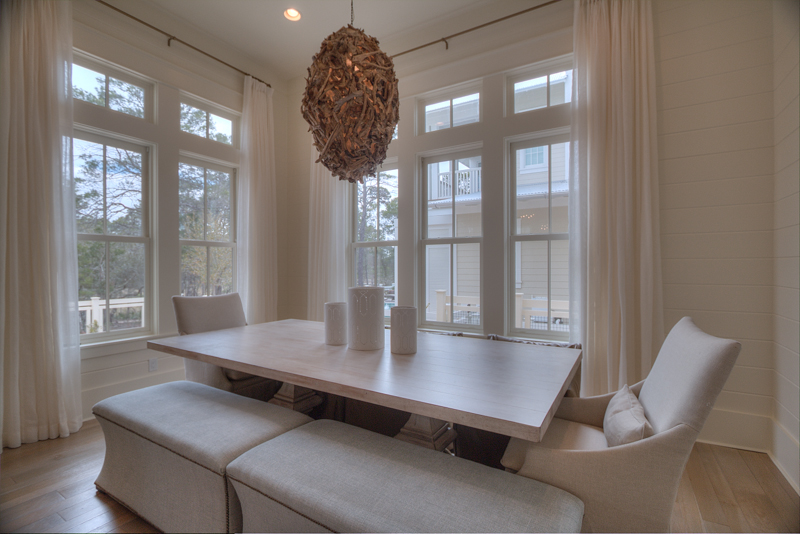Beautifully appointed separate dining area