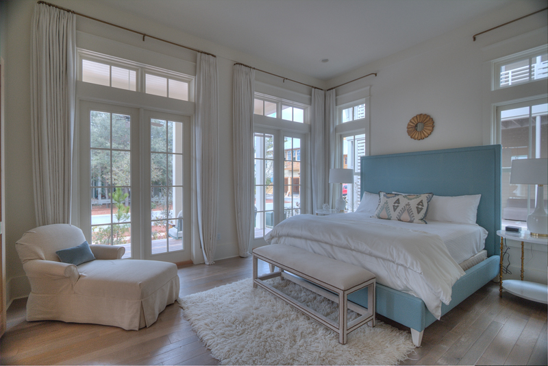 Large King Bedroom on the first floor with views of the front porch and private bathroom
