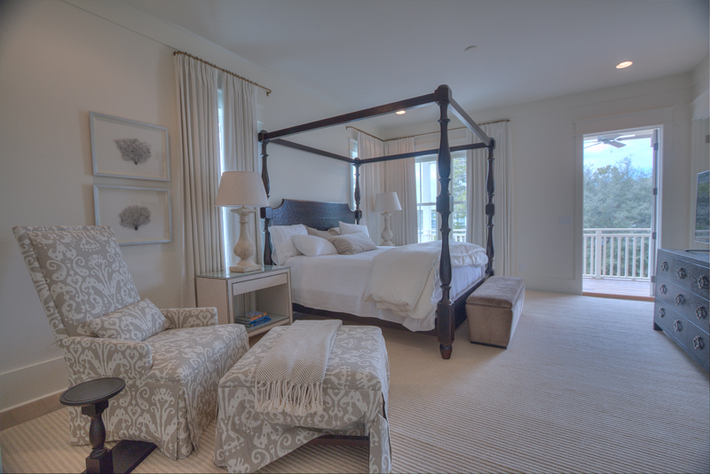 Second large king master bedroom with private balcony overlooking Scrub Oak Circle