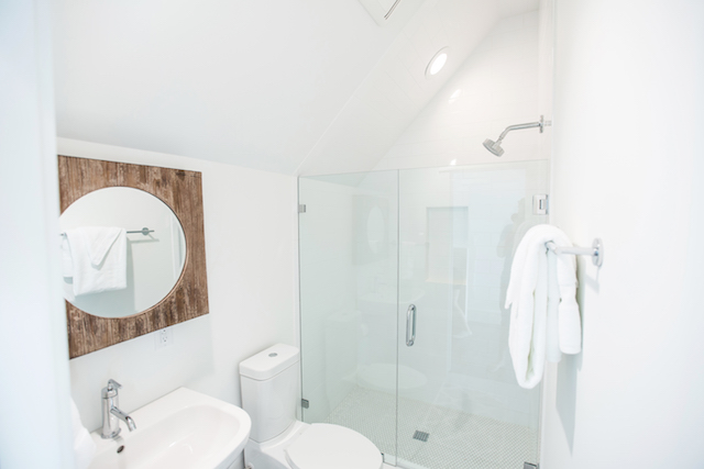 Full bathroom with stand-up shower on third floor