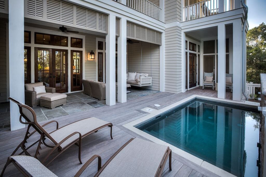 Private Pool with Jacuzzi Jets and Outdoor Seating for Sunning or Casual Conversations