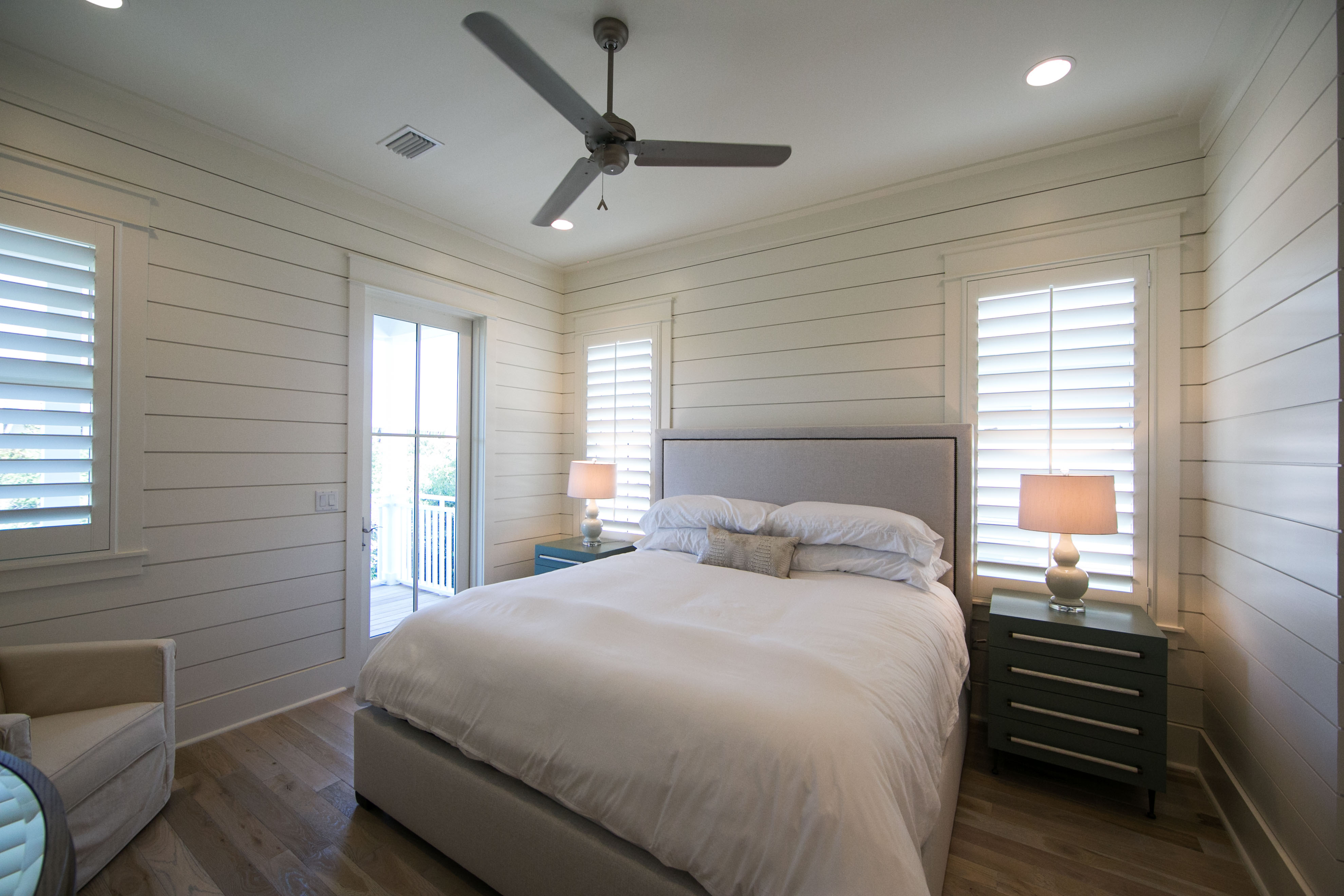 Additional King Bedroom on 30A Side with private bathroom.