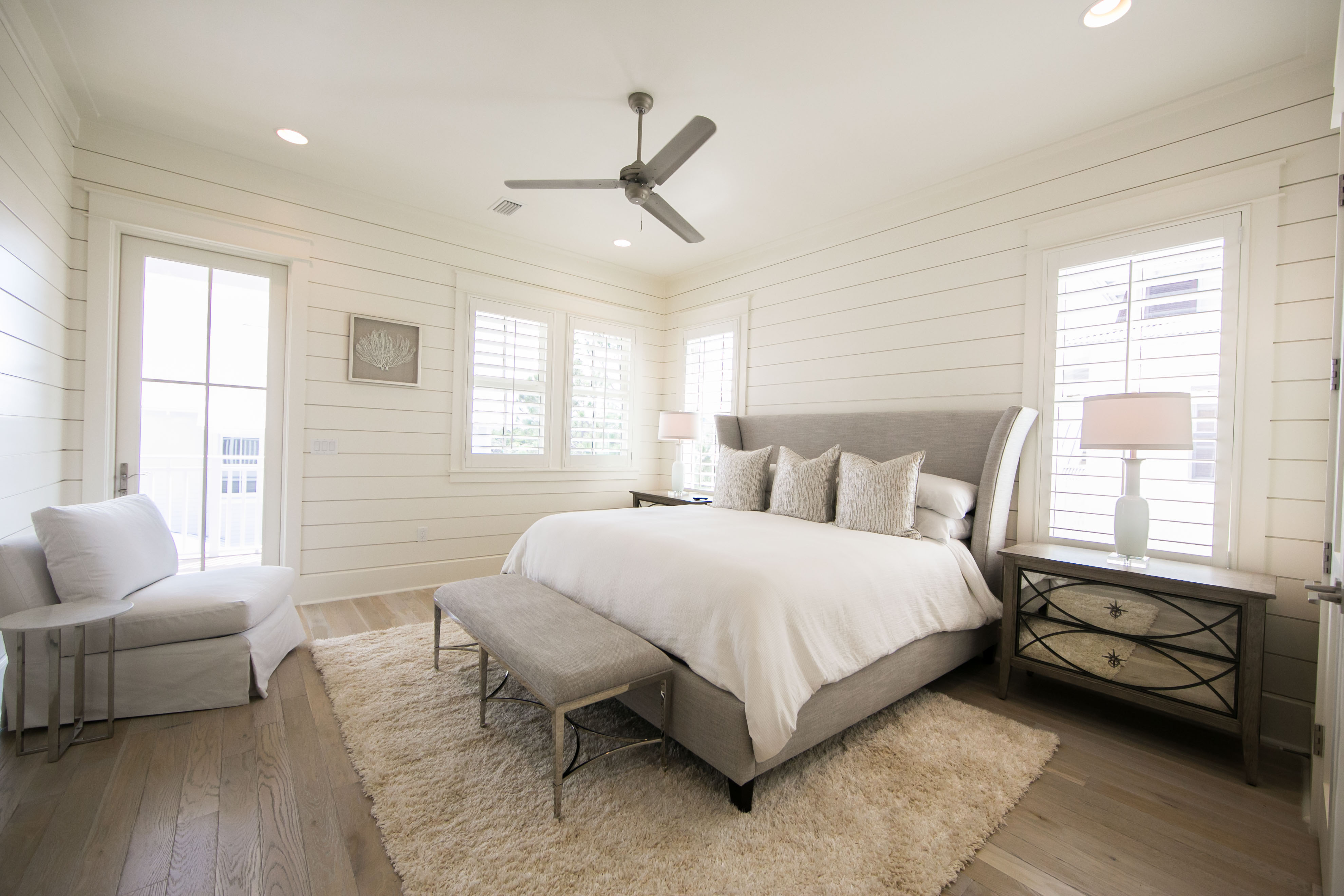 Main King Master Suite with Private Balcony overlooking the Pool Deck