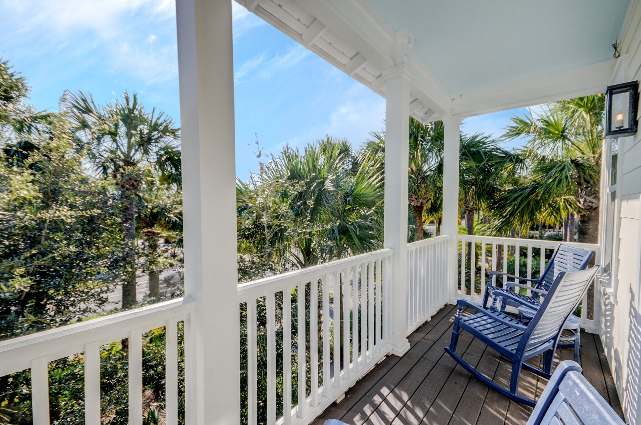 4 Rocking Chairs off of the 2nd Floor Living Room Balcony, Overlooking 30A