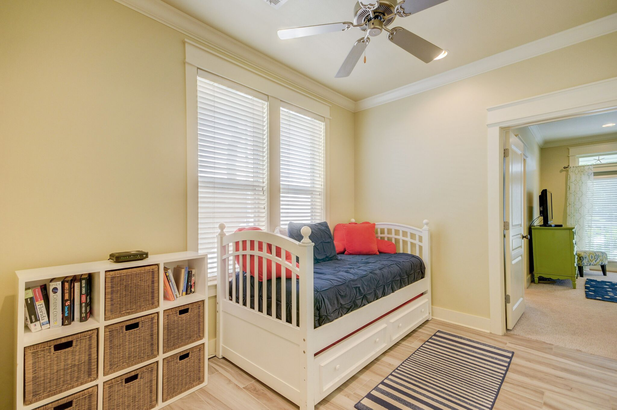 Comfortable Daybed with Trundle in between the Twin Bedroom and Queen Bedroom on 1st Floor