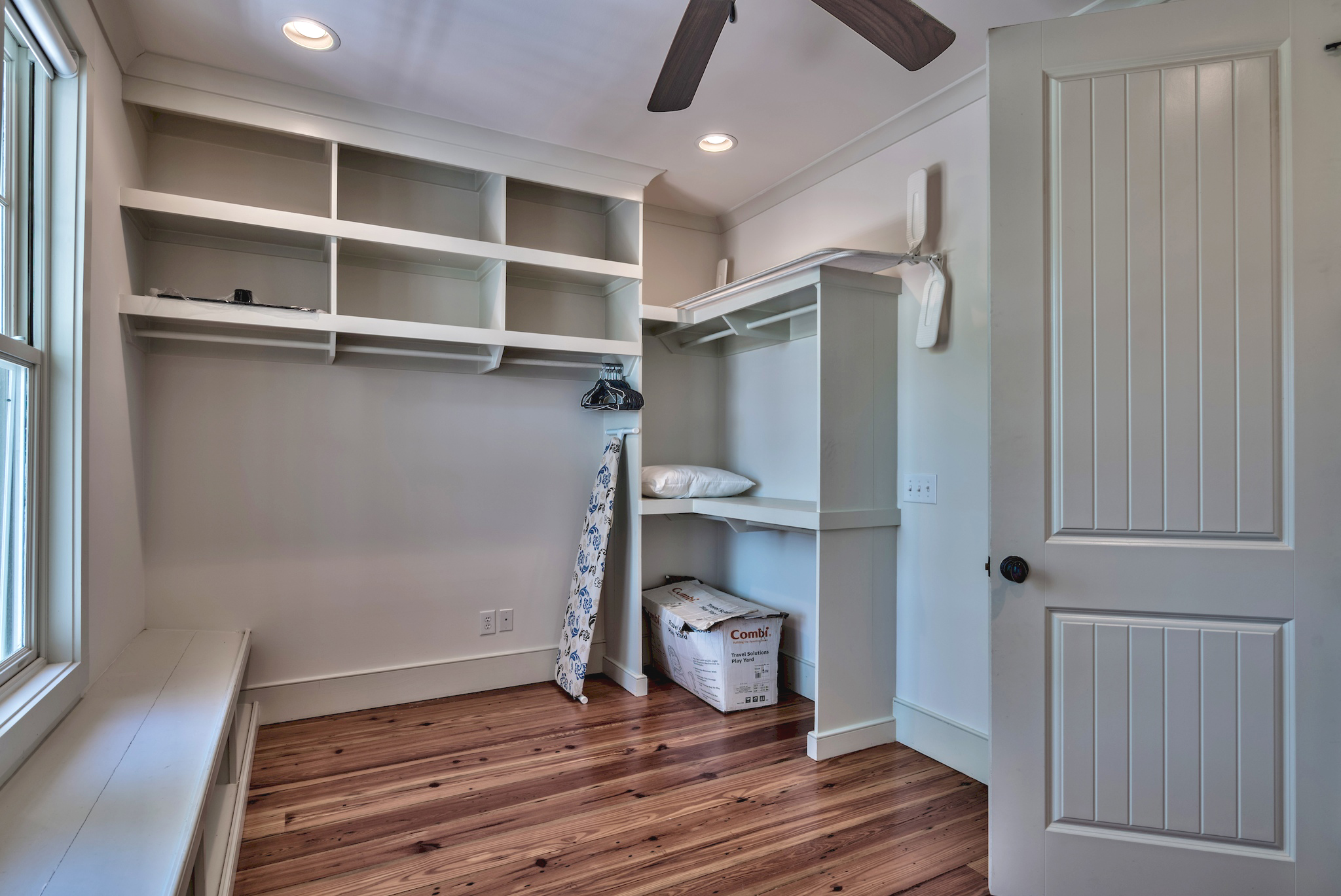 Lots of room for clothes and luggage in the master closet