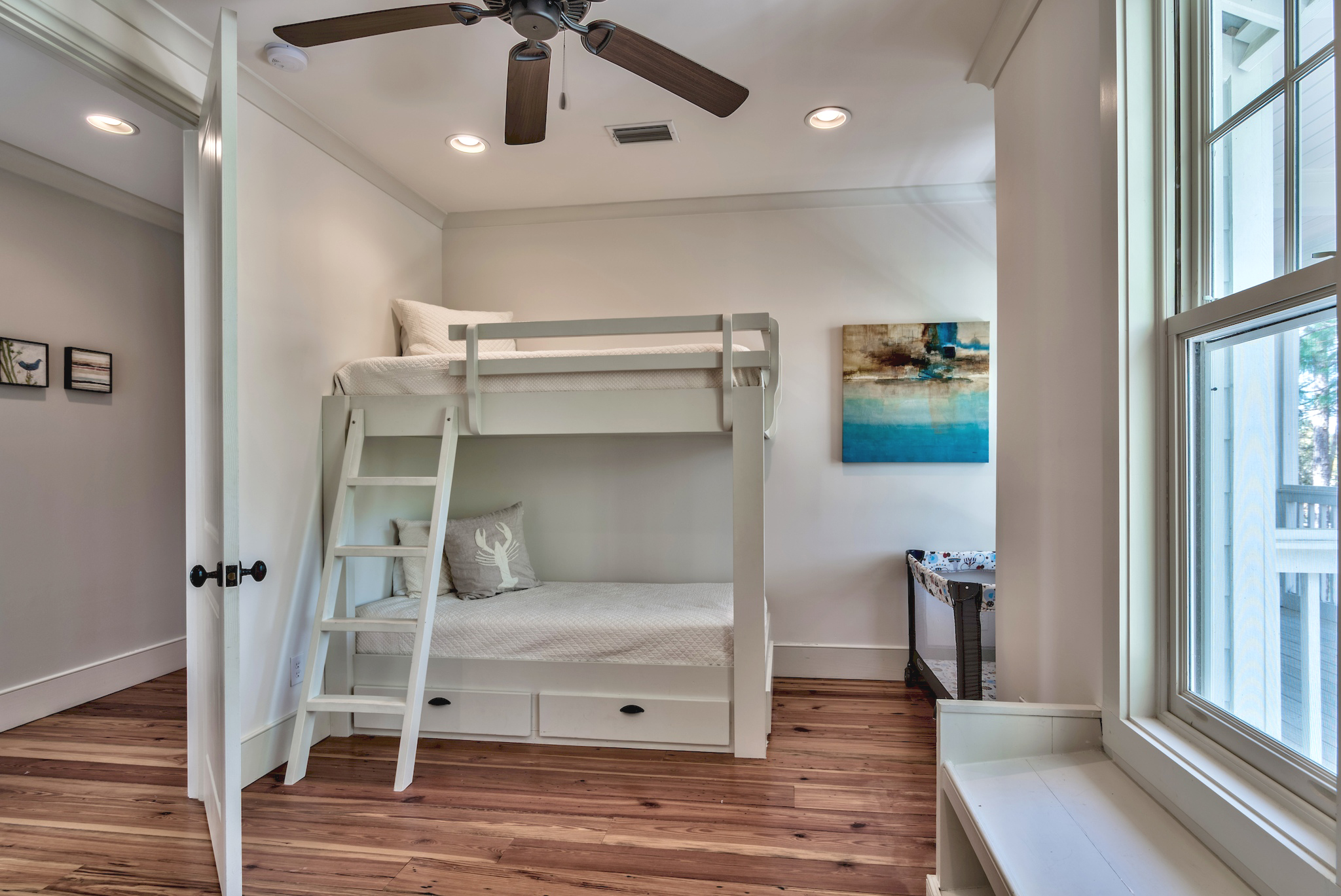 Spacious Master Closet includes bunks for two