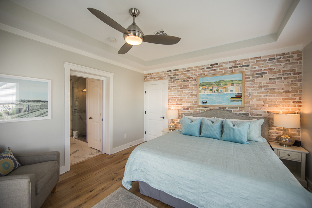 Master King Bedroom on 2nd Floor with Large Balcony on Front of House, En-suite Full Bath, Walk-In Closet and Flat Screen TV