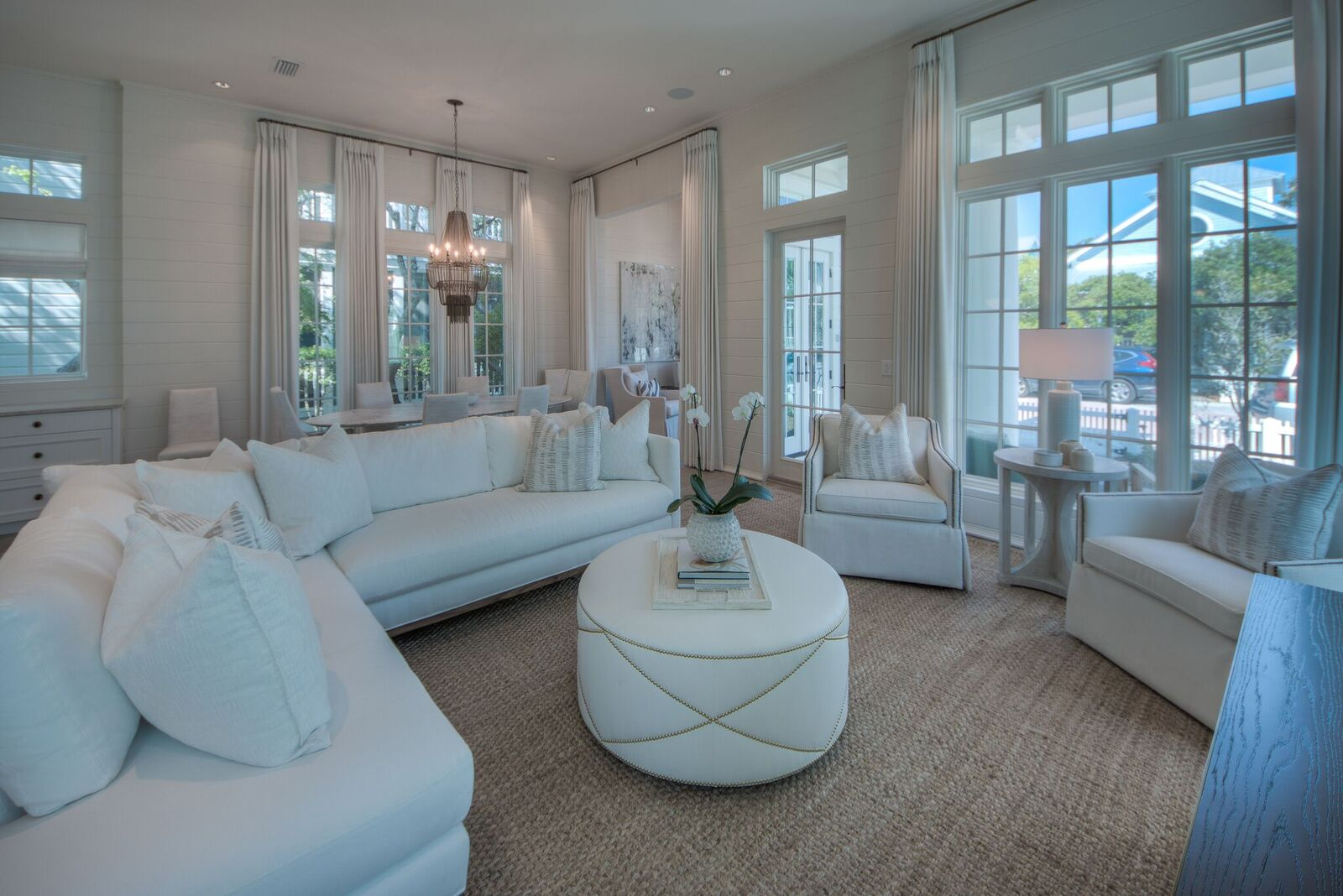 Bright, open, high-ceiling space captivates you when you enter the home