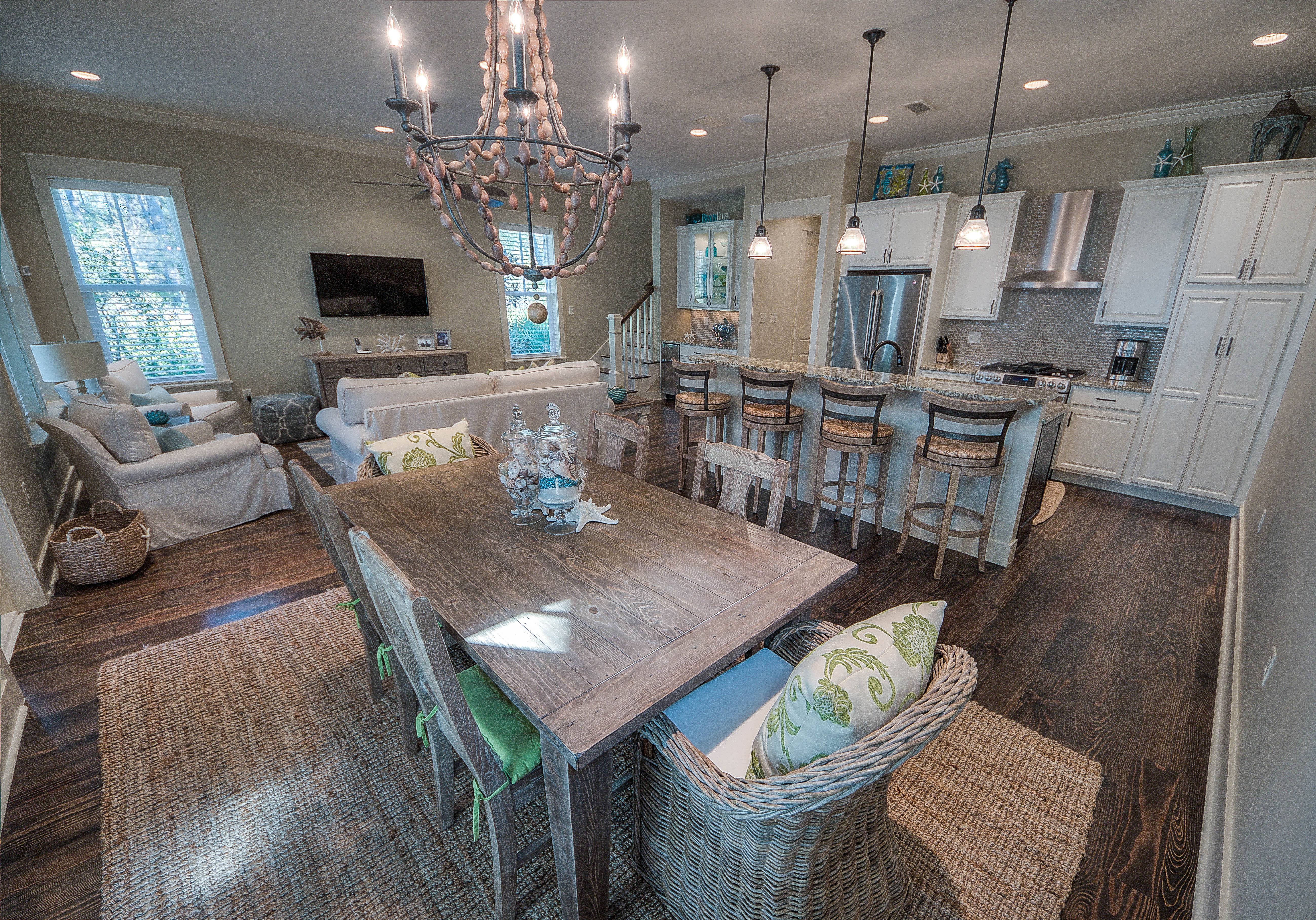 Beautiful open concept beach chic home