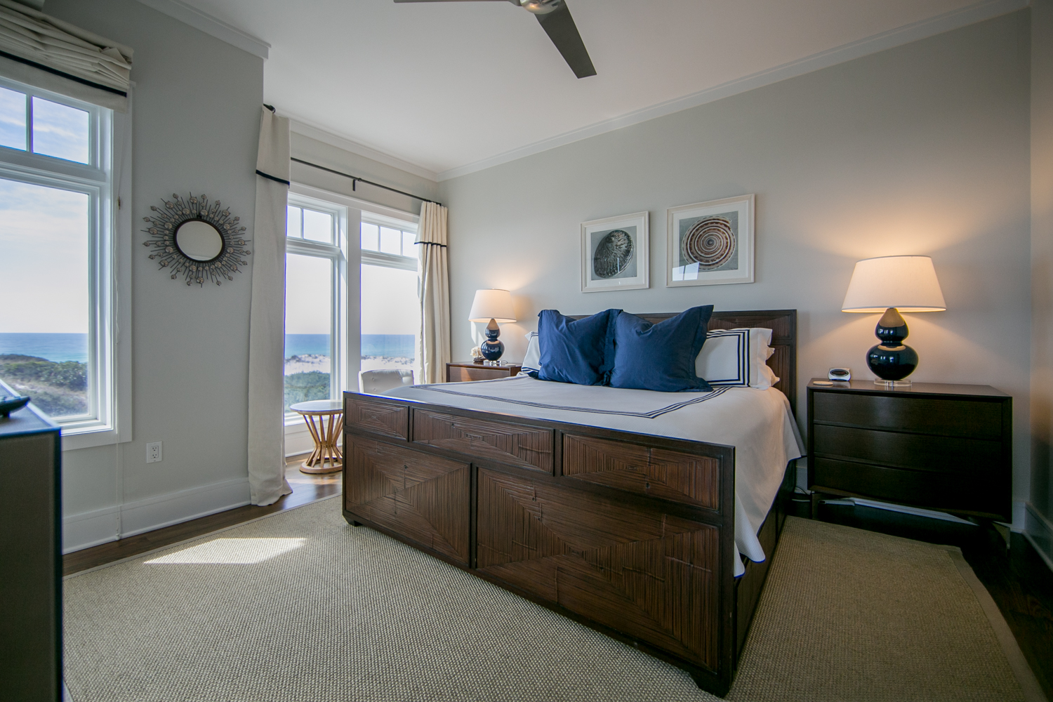 King Master Suite with views of the gulf as you lie in bed