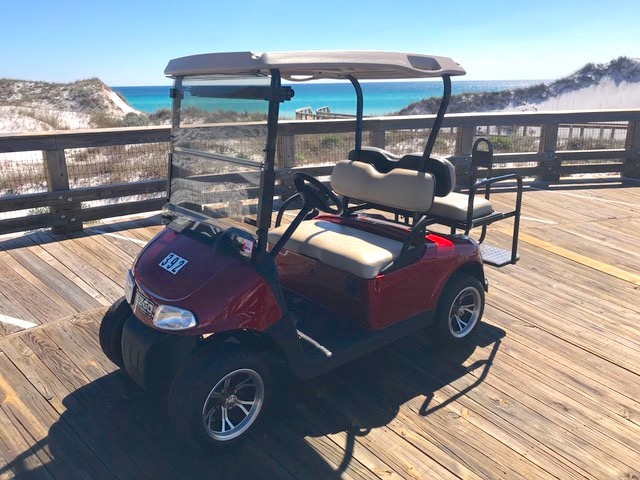 The owner provides use of a golf cart for use inside the WaterSound community. The cart is not street legal.