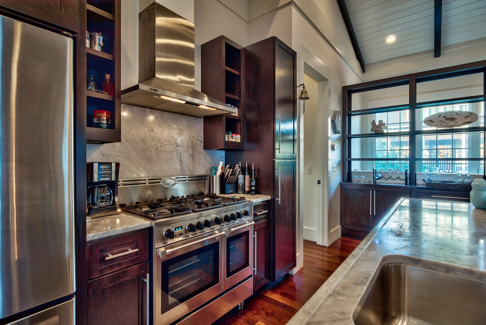Chef's Kitchen with Granite Countertops and Stainless Appliances