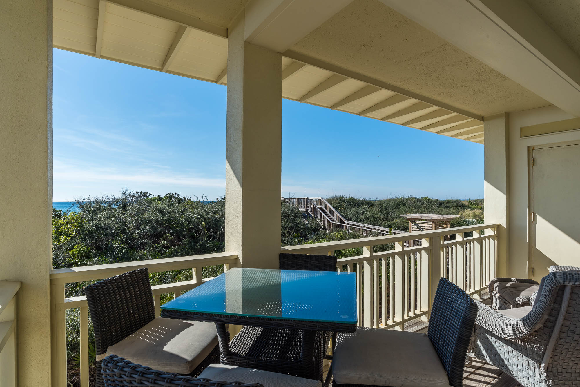 Dine alfresco or relax with a book on the 2nd floor balcony