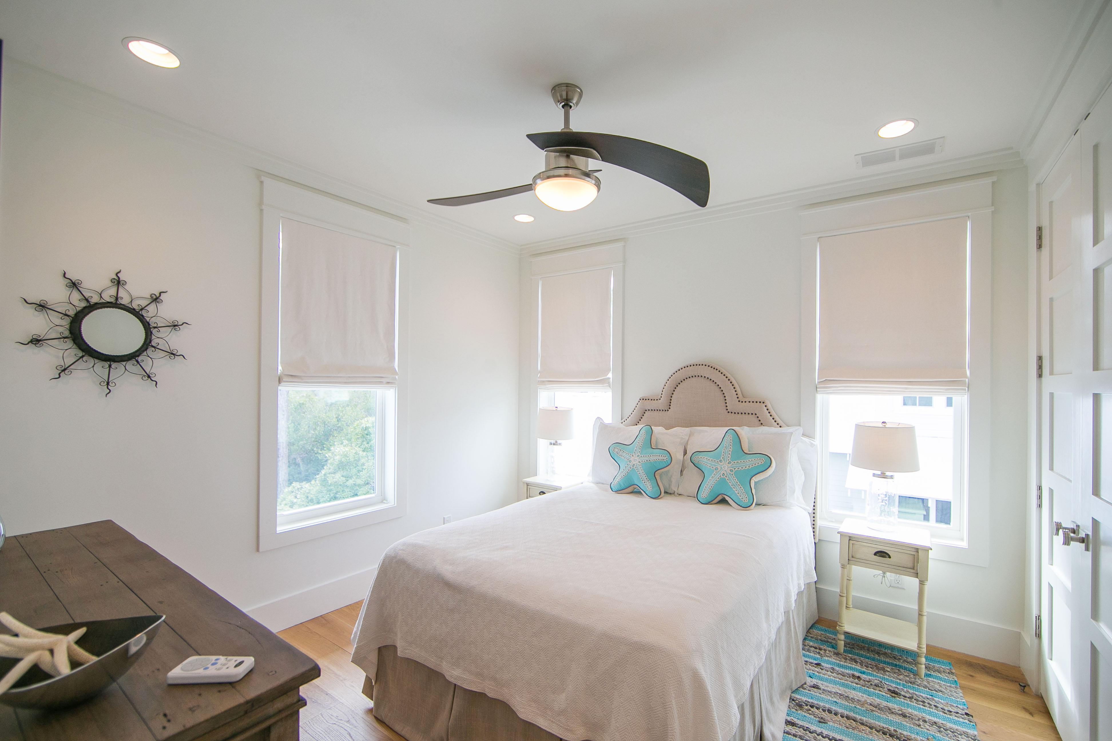Guest bedroom 4 is located on the 2nd floor and has a queen sized bed and shares the hall bath.