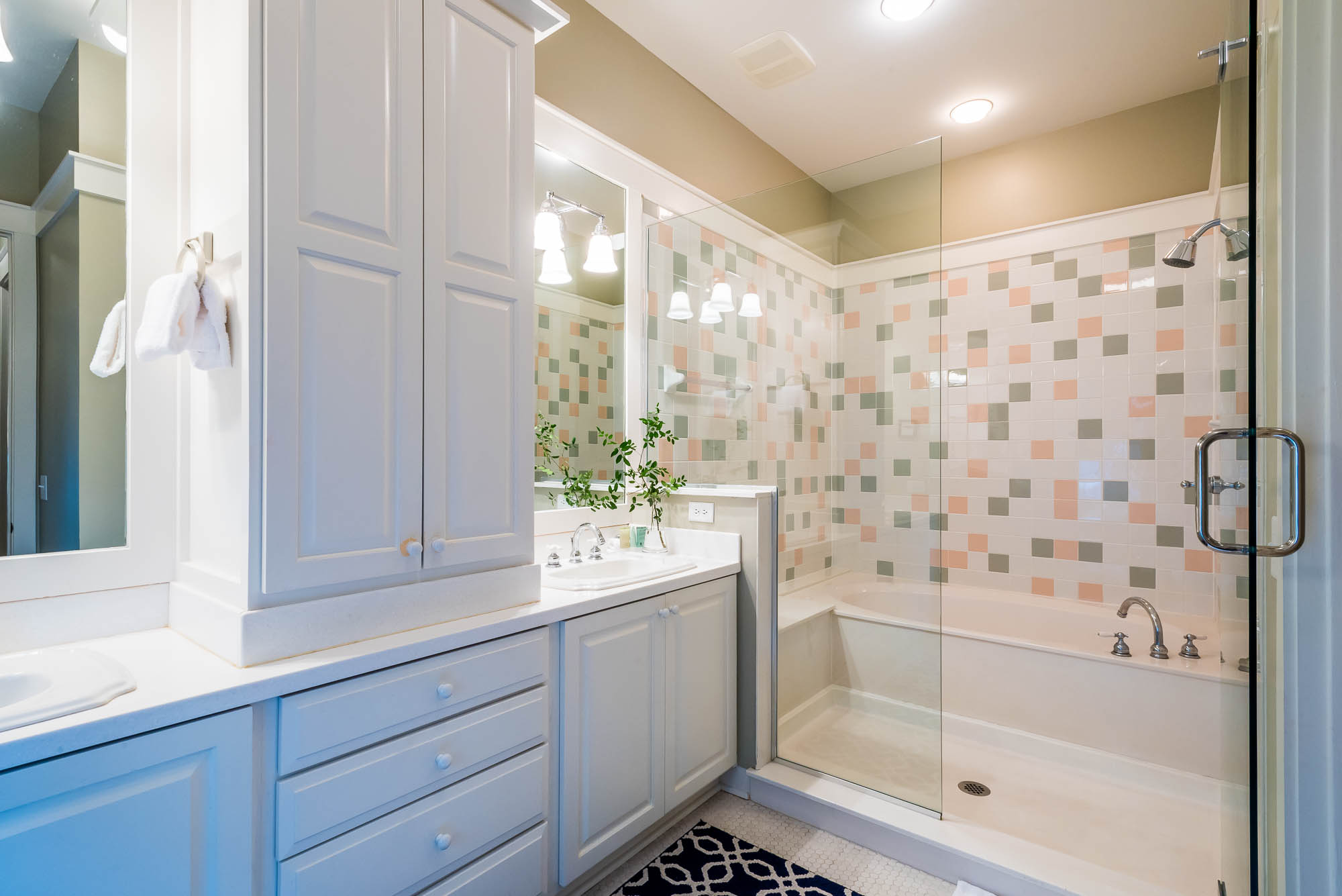 Ensuite master bath has a shower and a tub