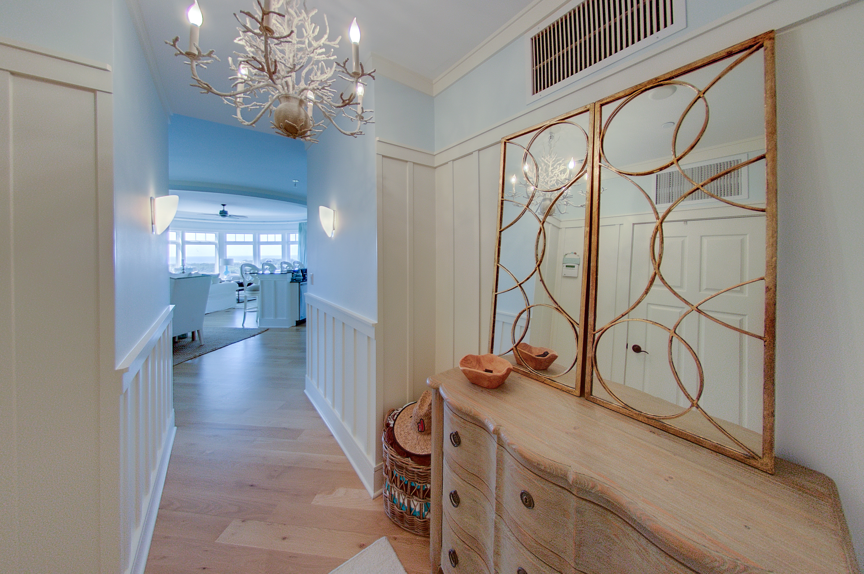 Entryway into the unit, views of the Gulf as you enter the unit.