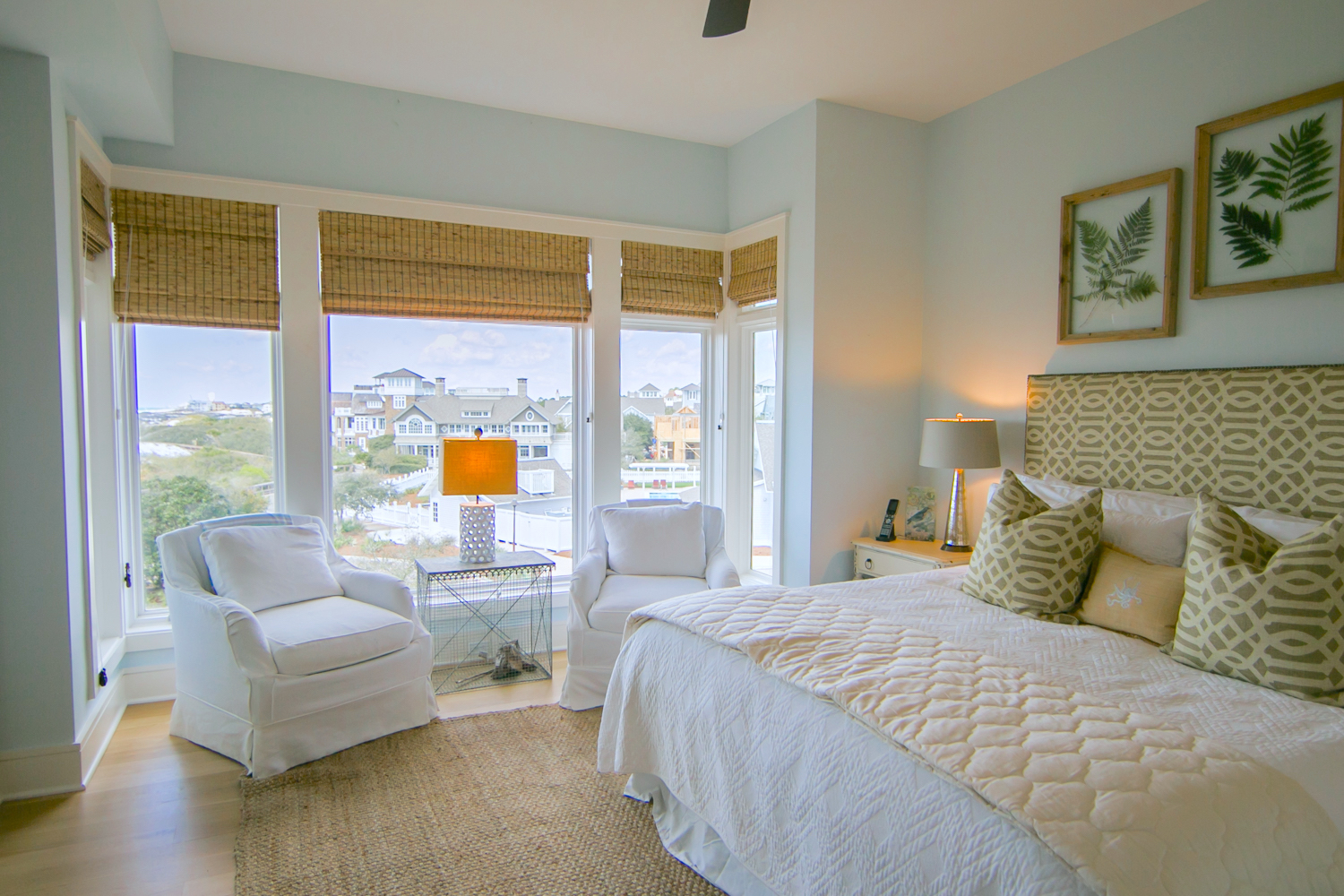 Guest bedroom with a king bed and gulf views