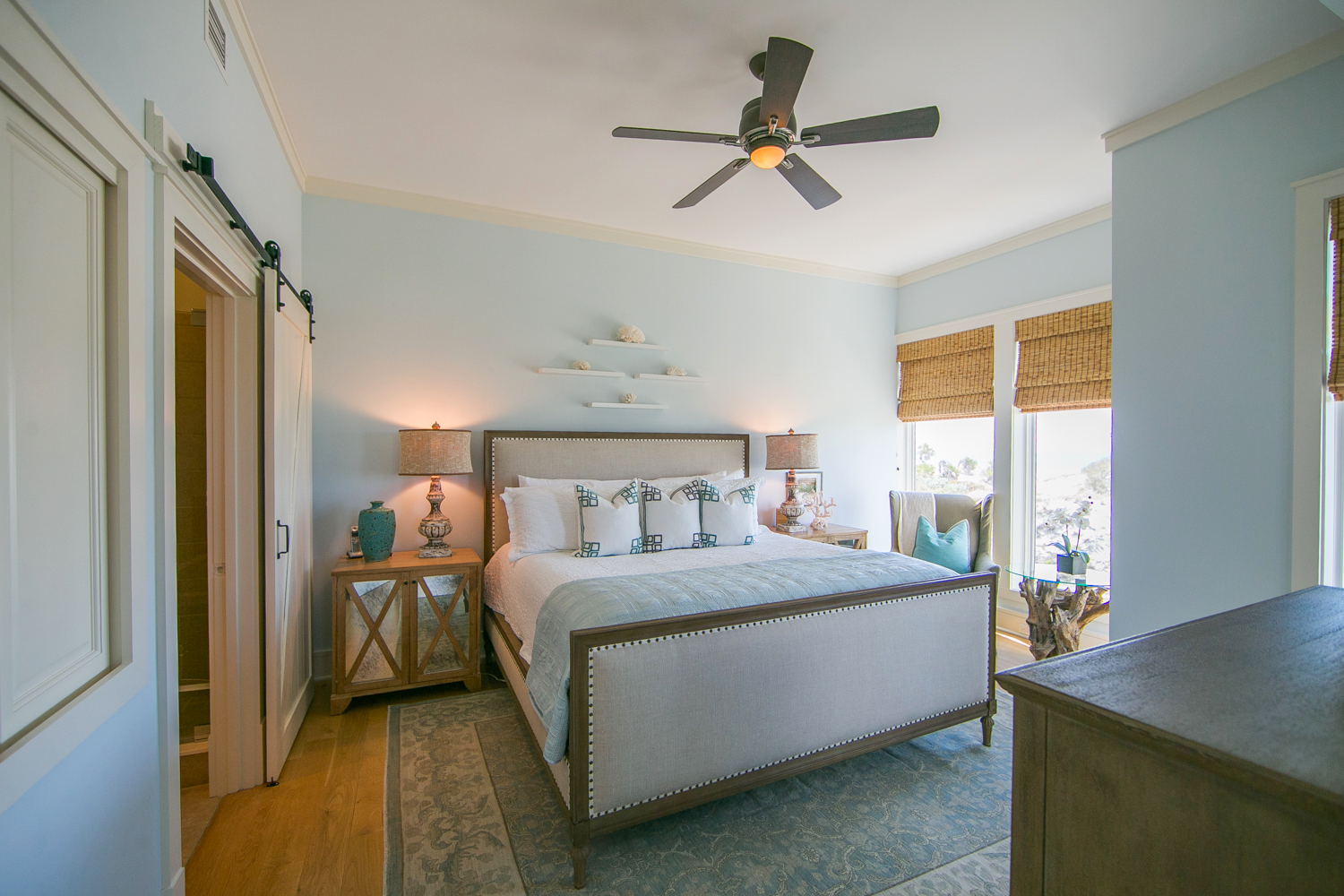Master bedroom has a King bed and features gulf views