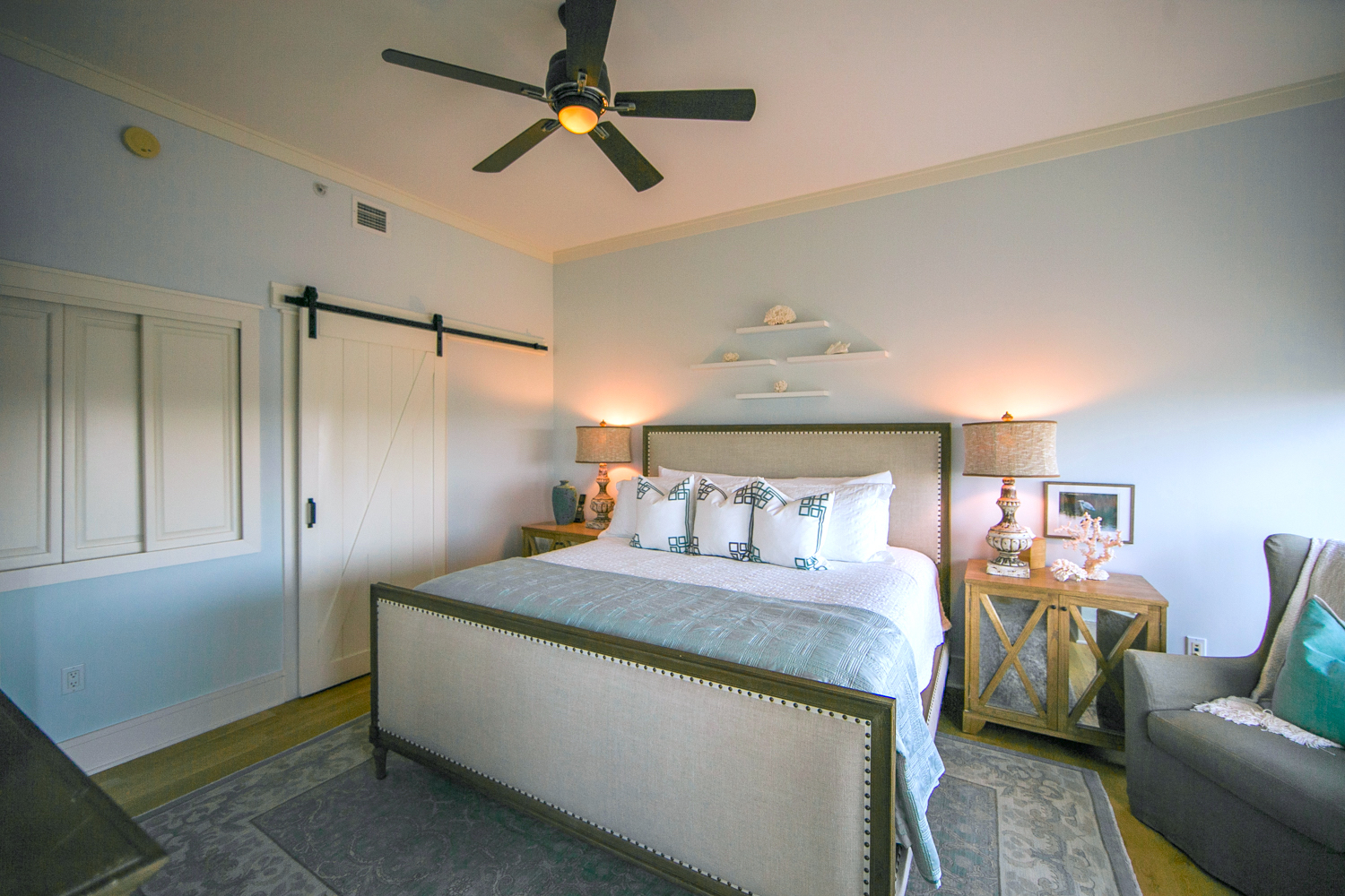 Your master bedroom is a wonderfully serene retreat