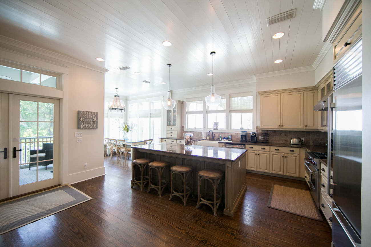 Kitchen with Screened in Porch