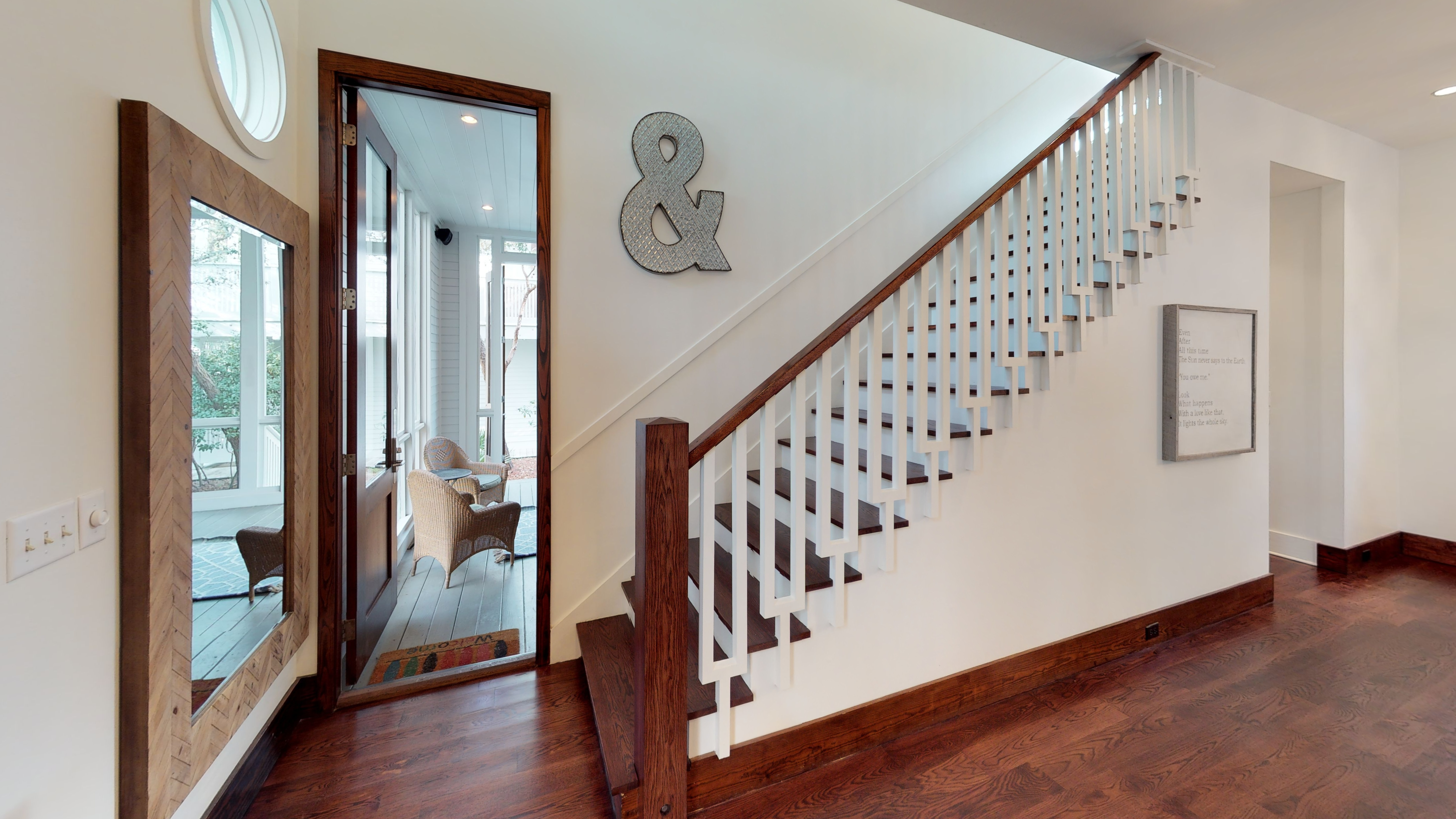 Staircase leading to the second floor