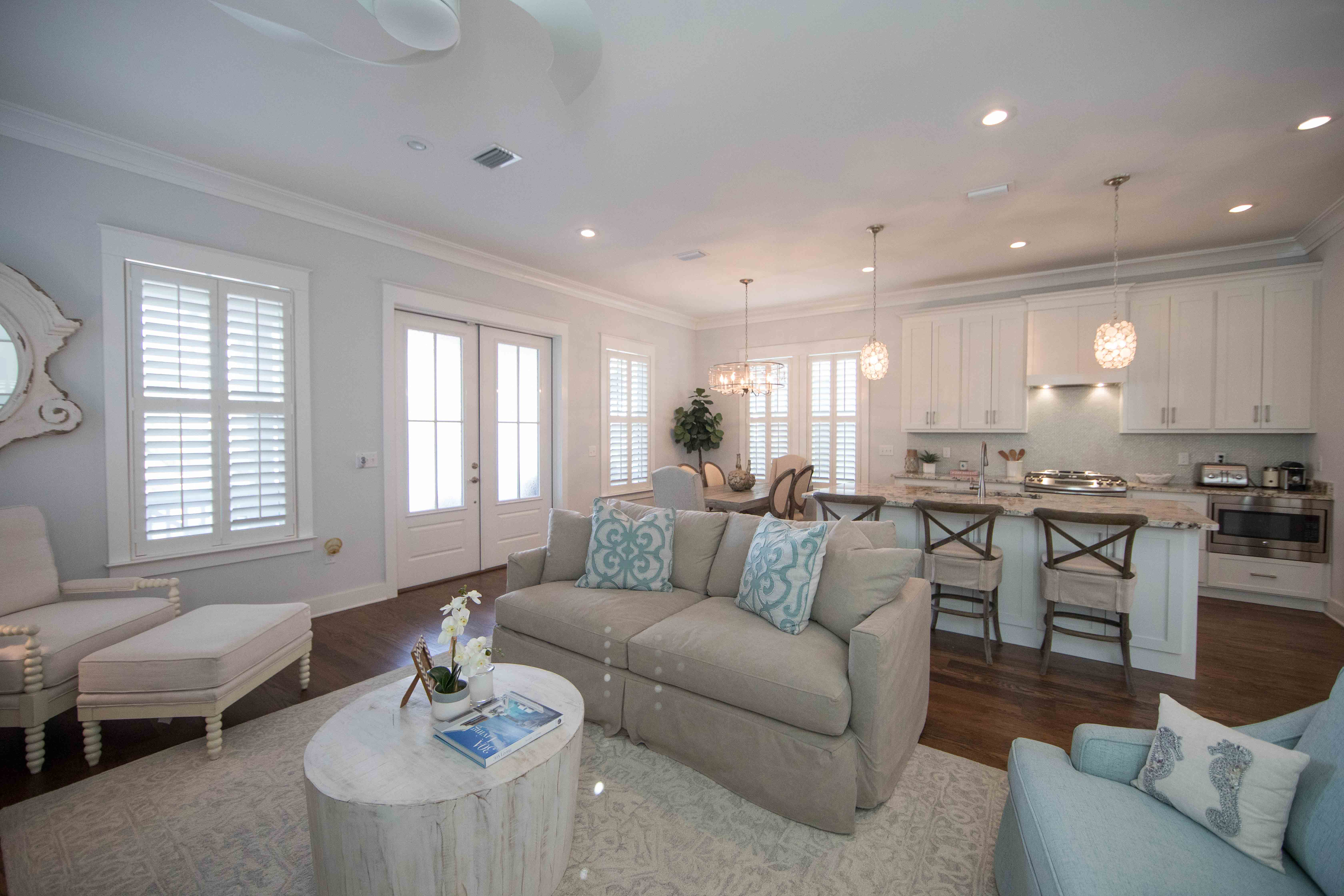 Open concept living, dining and kitchen area for creating forever memories with family and friends.