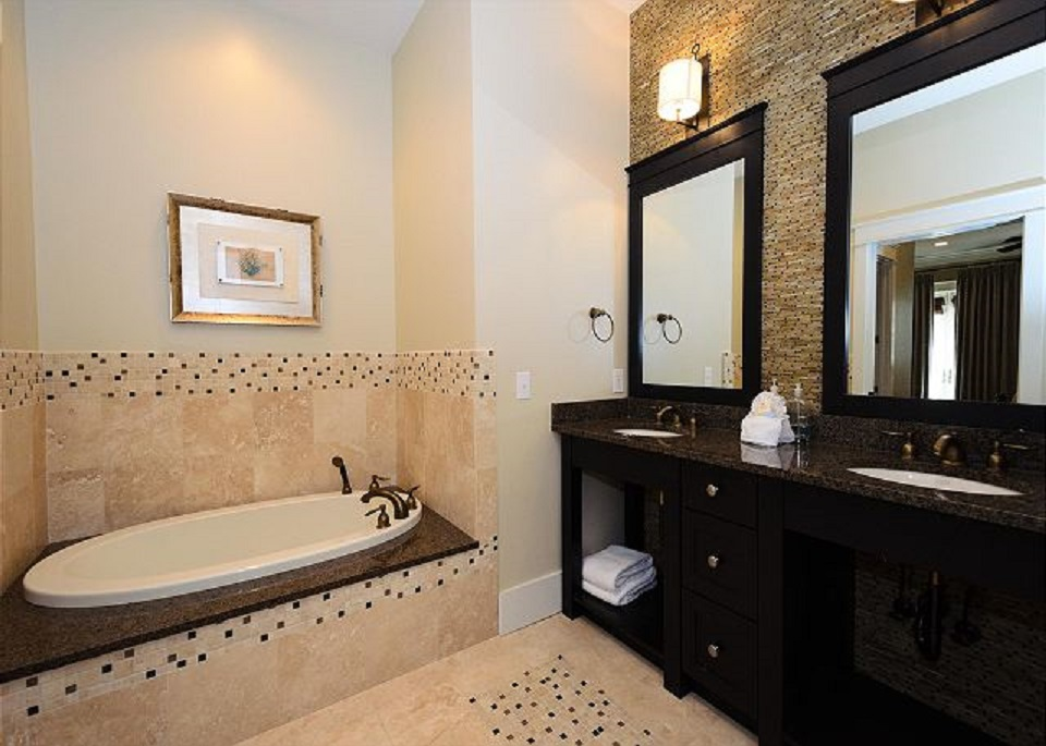 Double Vanity and Beautifully Appointed Large Master Bathroom with Separate Shower and Soaking Tub