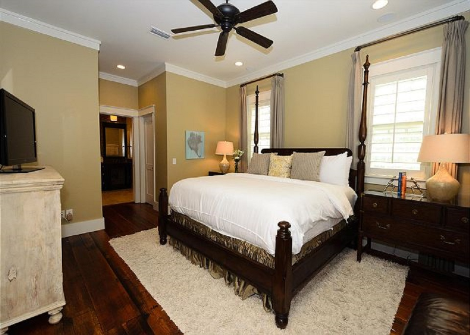 Gorgeous, Lush and Large First Floor King Master with Private Bathroom, Walk-In Closets and Doors Opening Up Onto the Private Courtyard