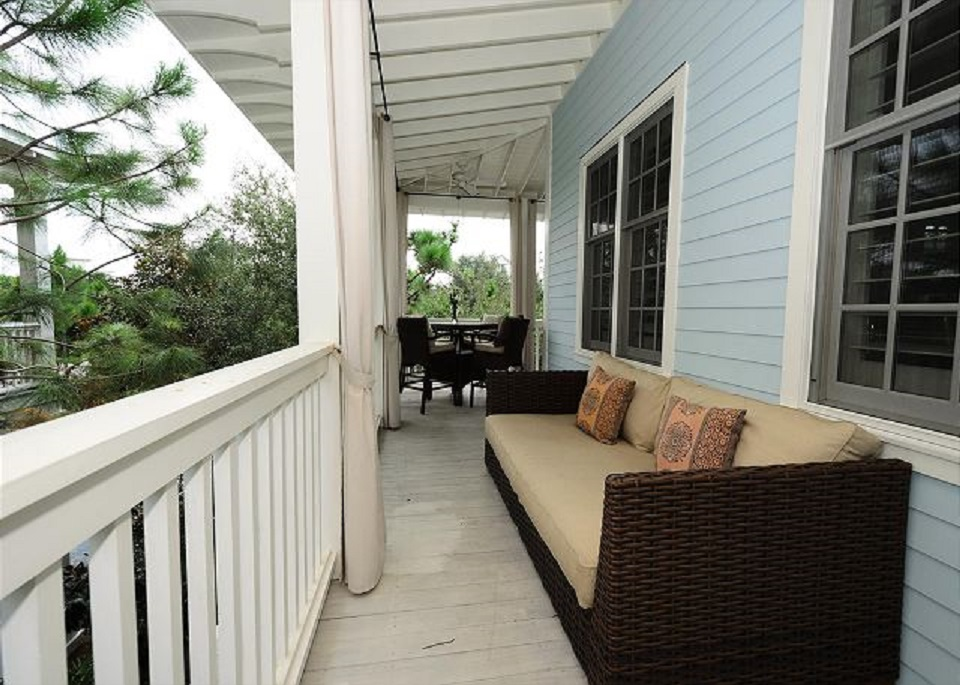 Plenty of Outdoor Seating Including Couches and High Boy Table for Enjoying the Outdoors
