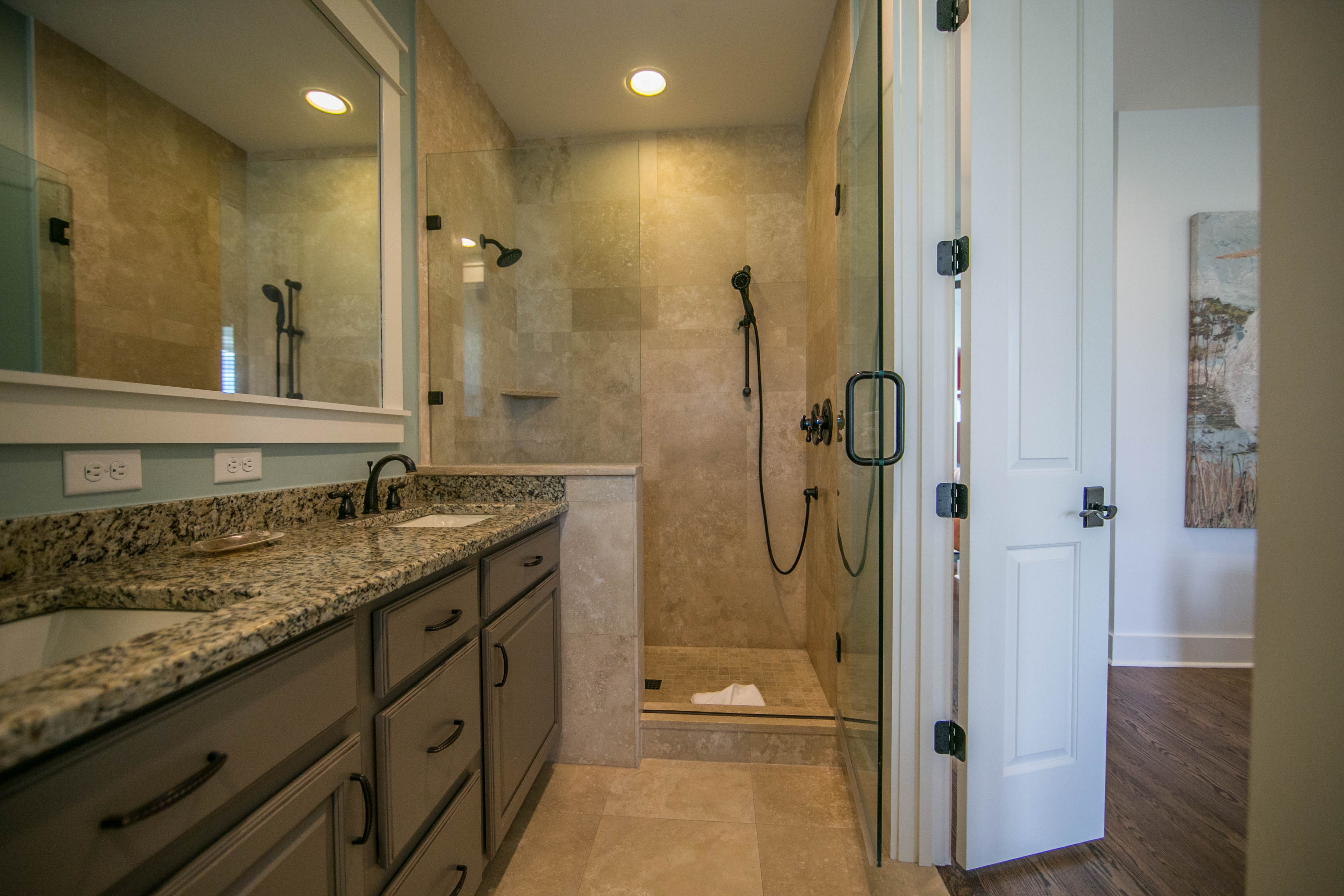 2nd floor Master bedroom bathroom with walk in shower