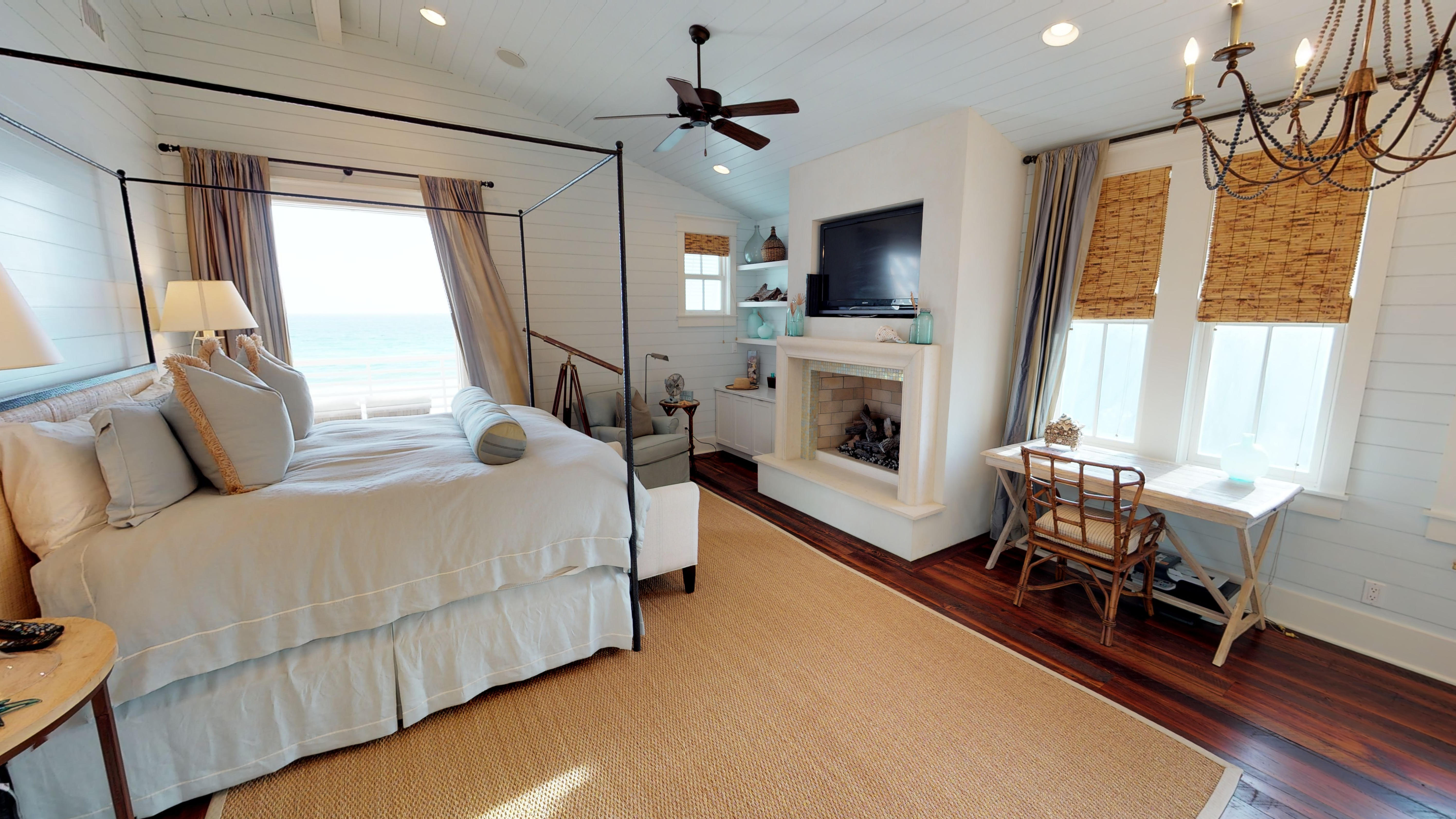 3rd floor Master Suite with a king sized bed