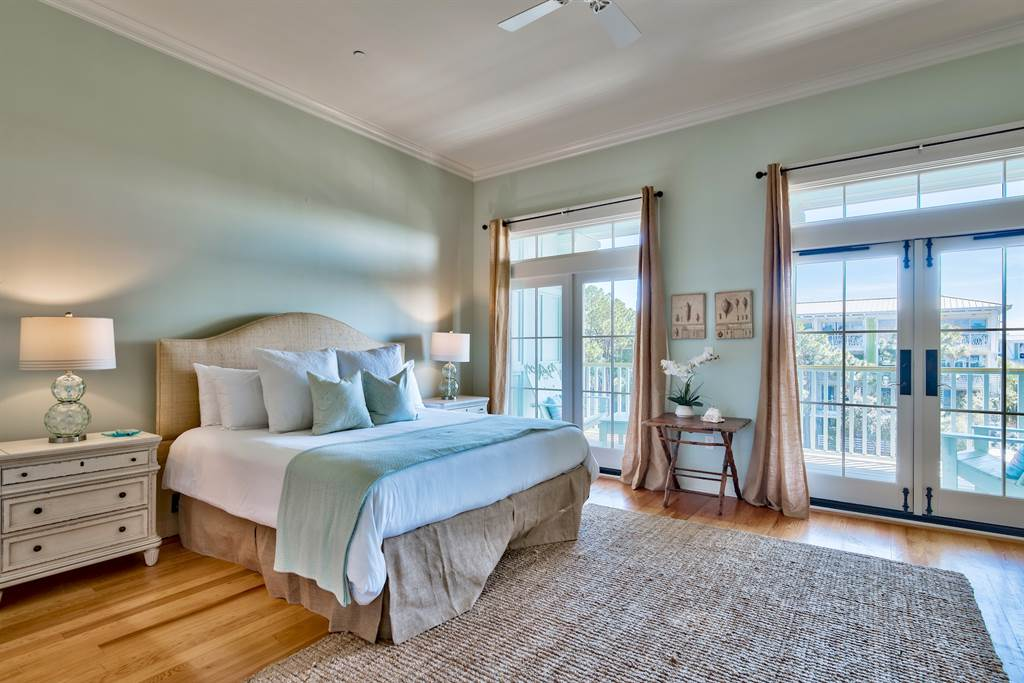 Large, Master bedroom with king sized bed.