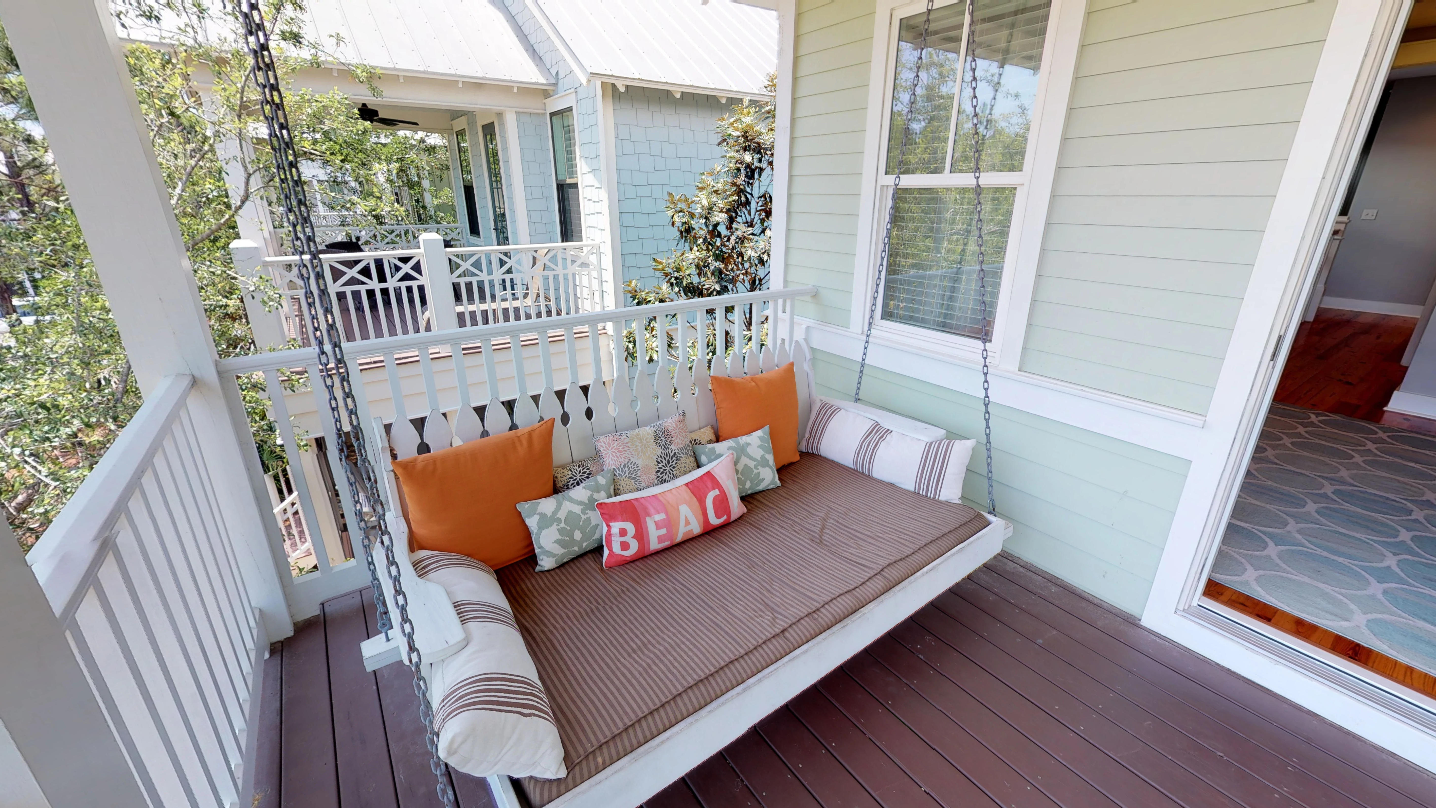 The favorite spot in the home the second story porch swing