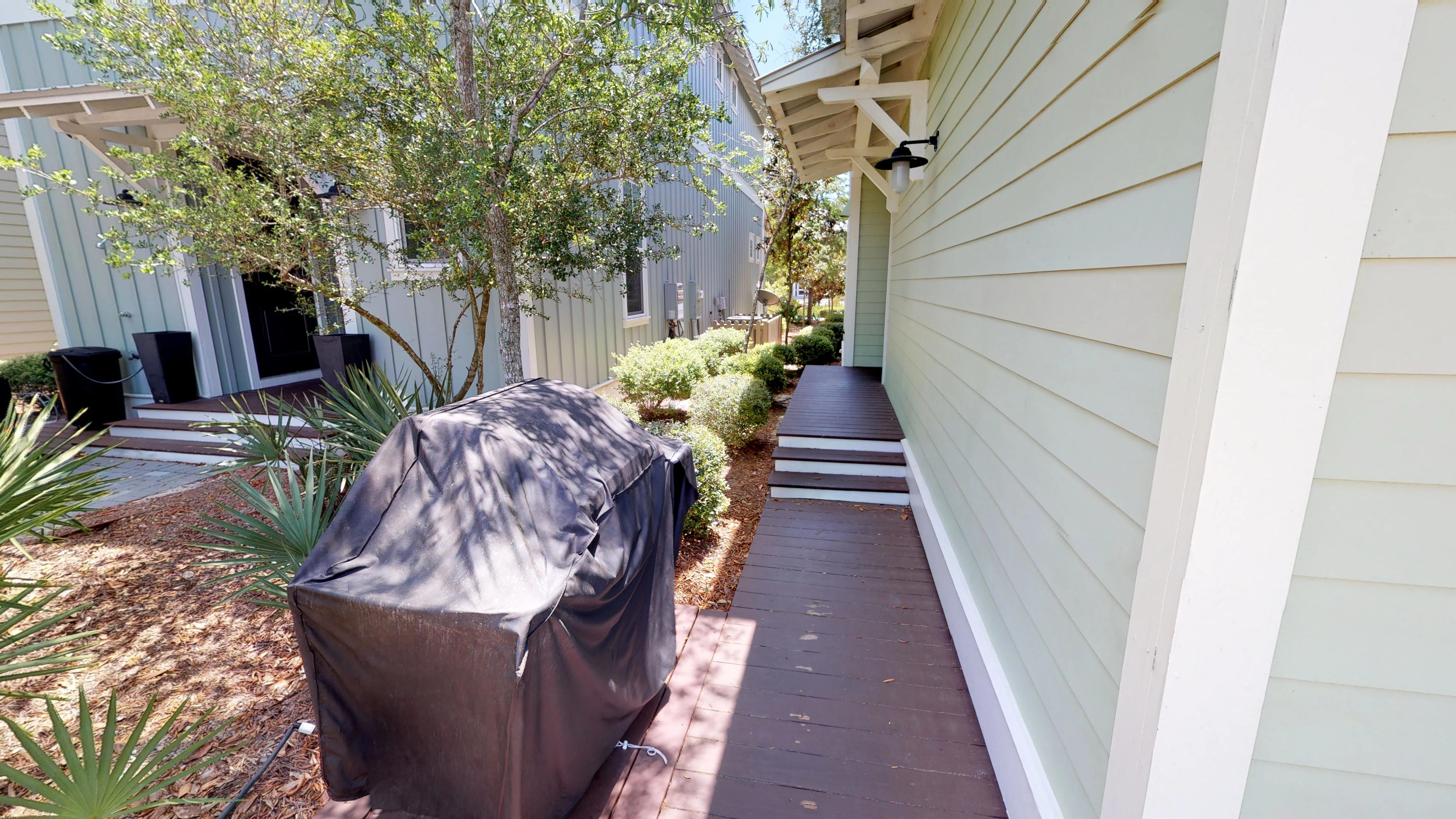 Grill and Side Door Access to the Home