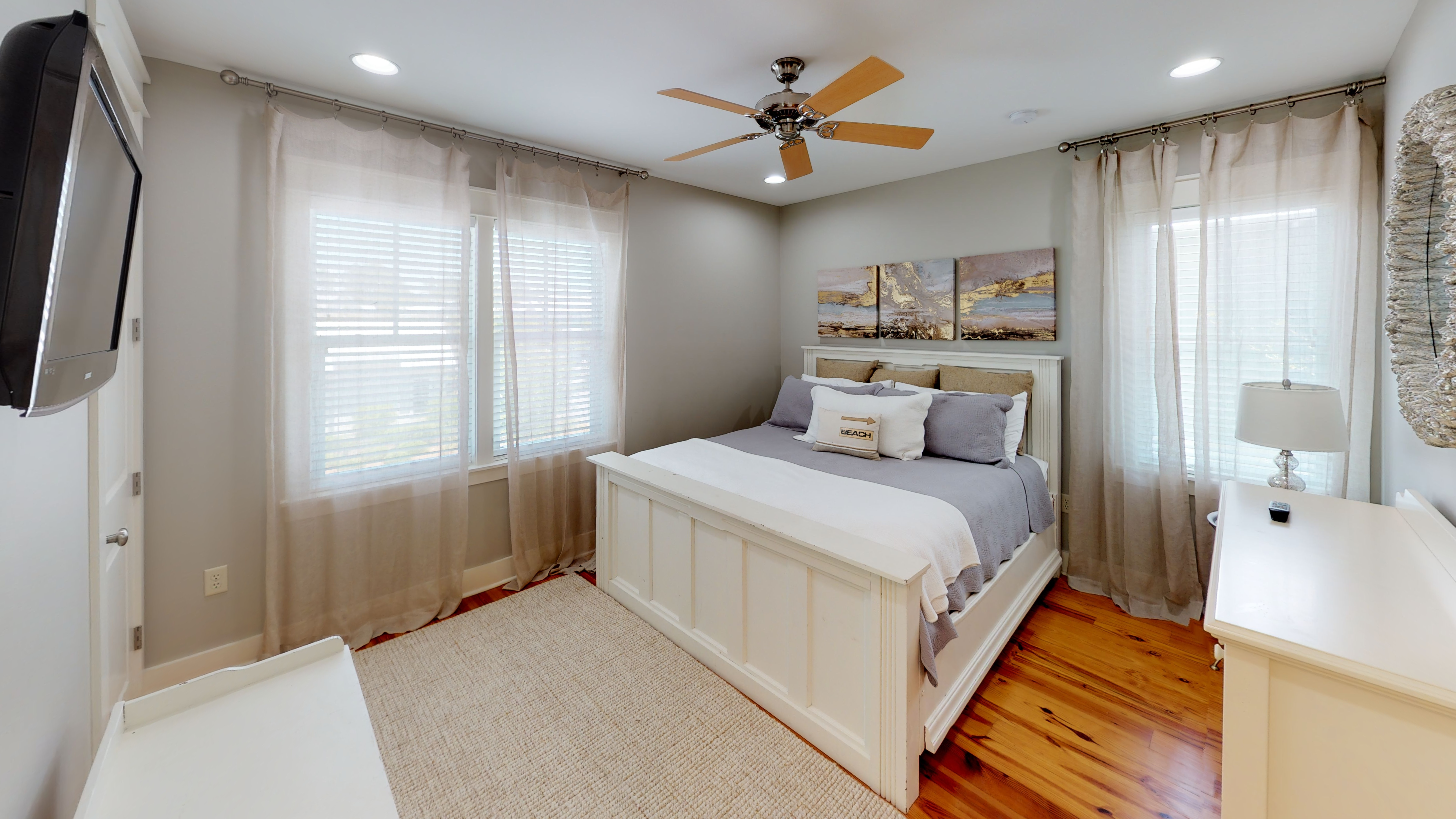 Guest Bedroom Suite on the back of the Second Floor with Closet & Flat- Screen TV