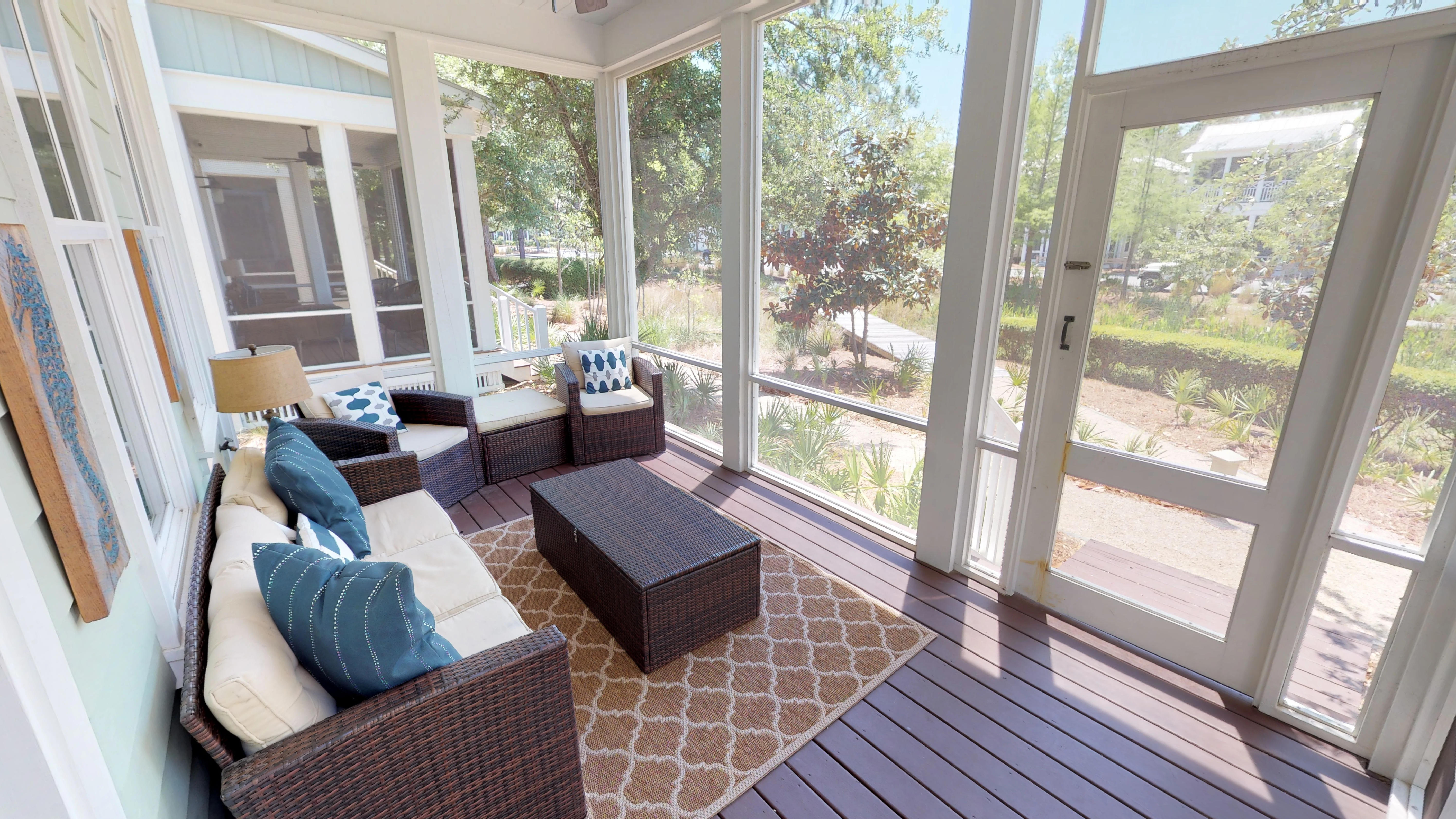 Screened- In Front Porch with Outdoor Living Space