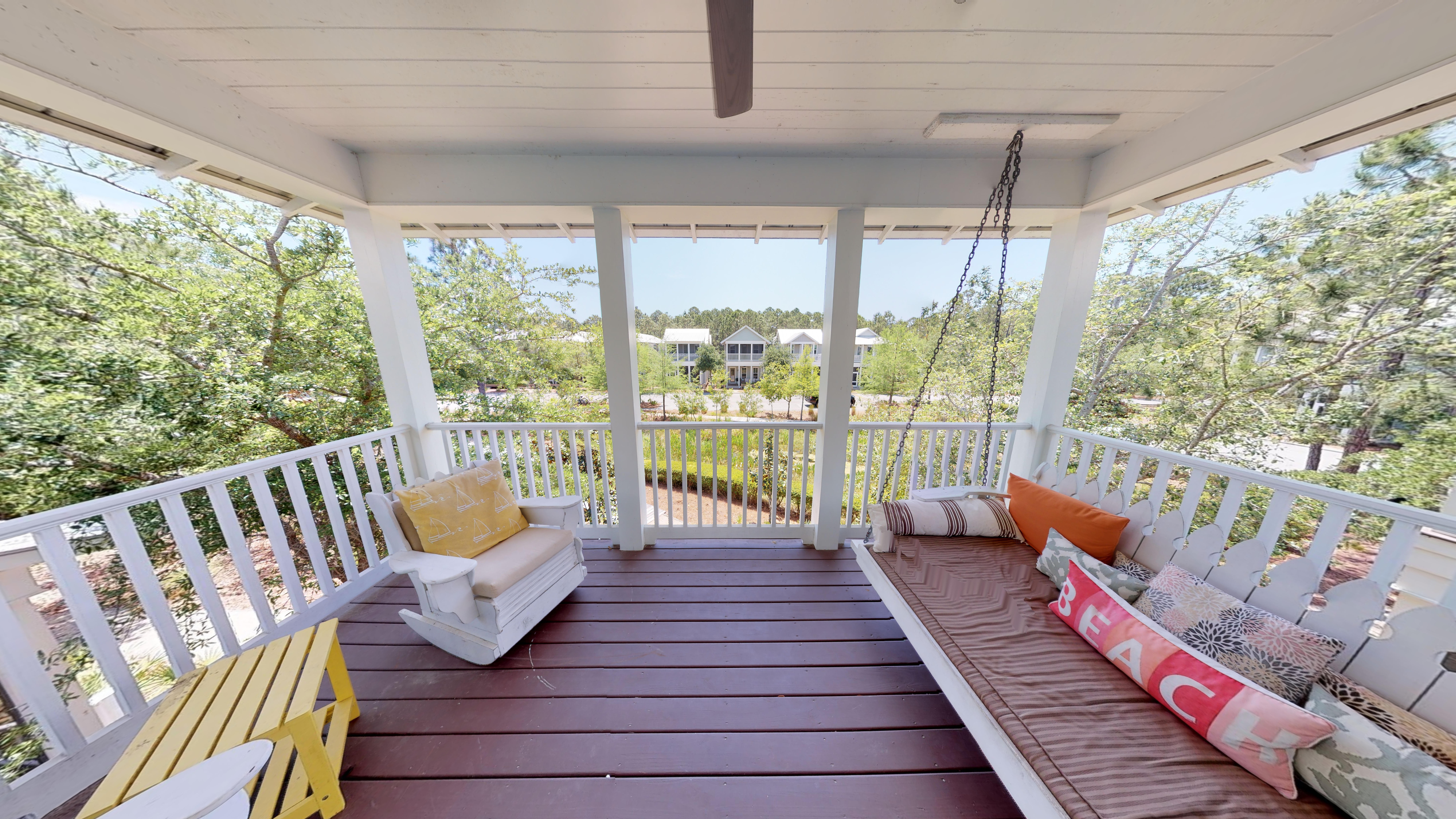 Second Story Porch with great views and plenty of seating