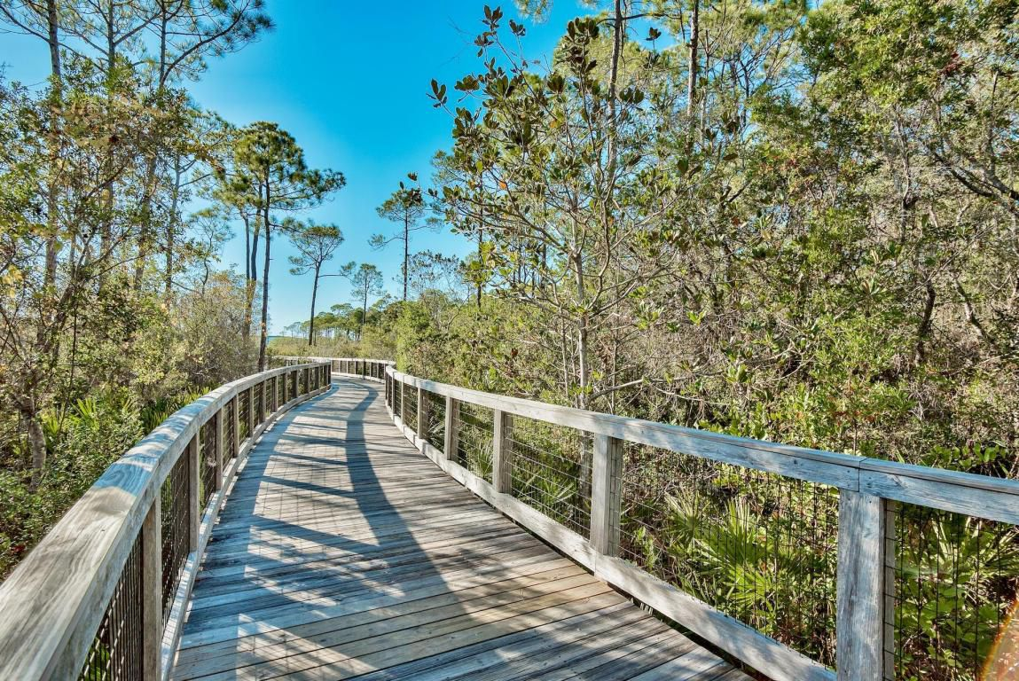 Winding board walk for the perfect bikes ride with family