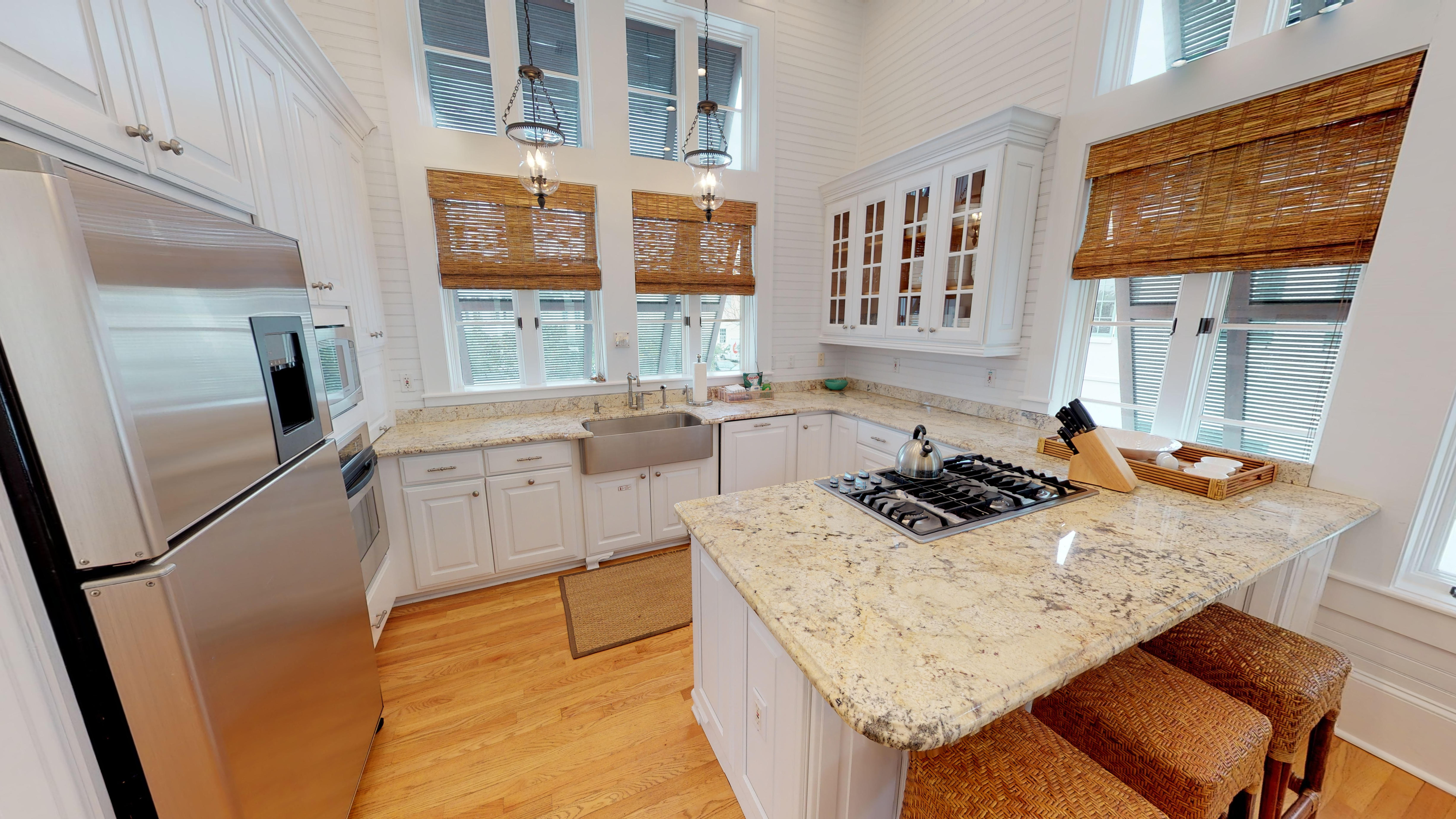 Beautiful finishes in the kitchen located just off the living area