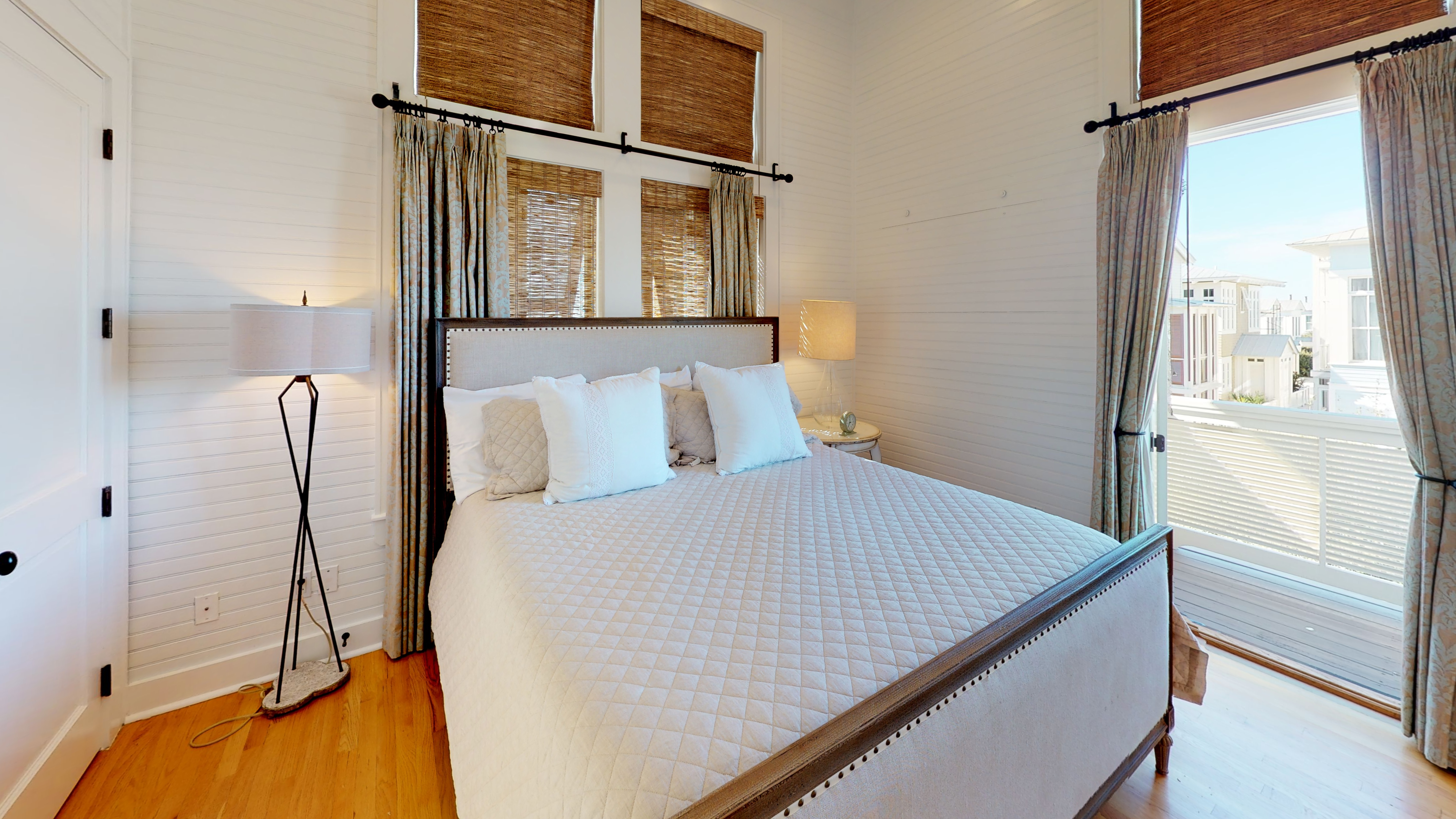 Lovely master bedroom with a king bed located on the second floor