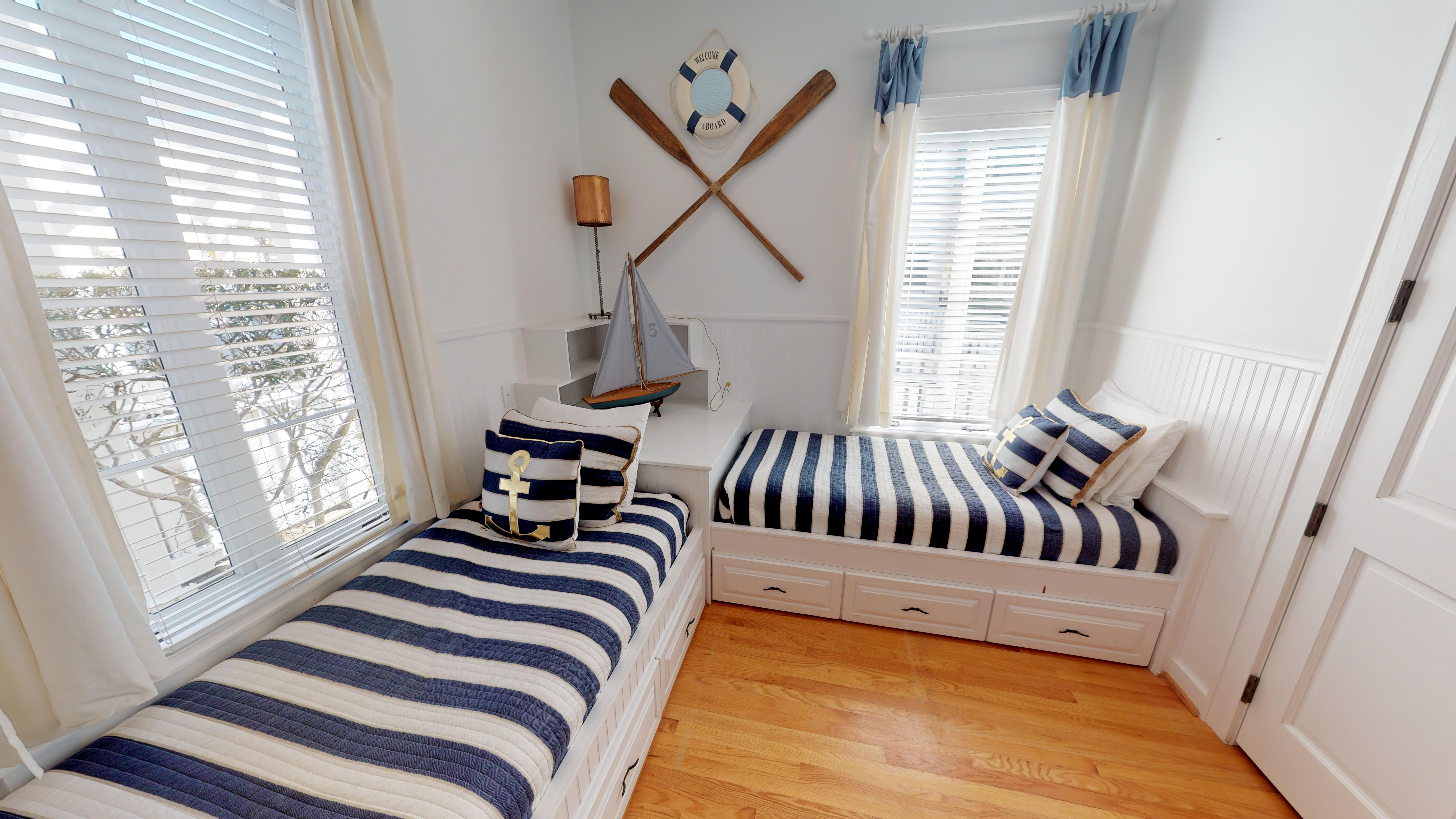 Twin bedroom located on the first floor