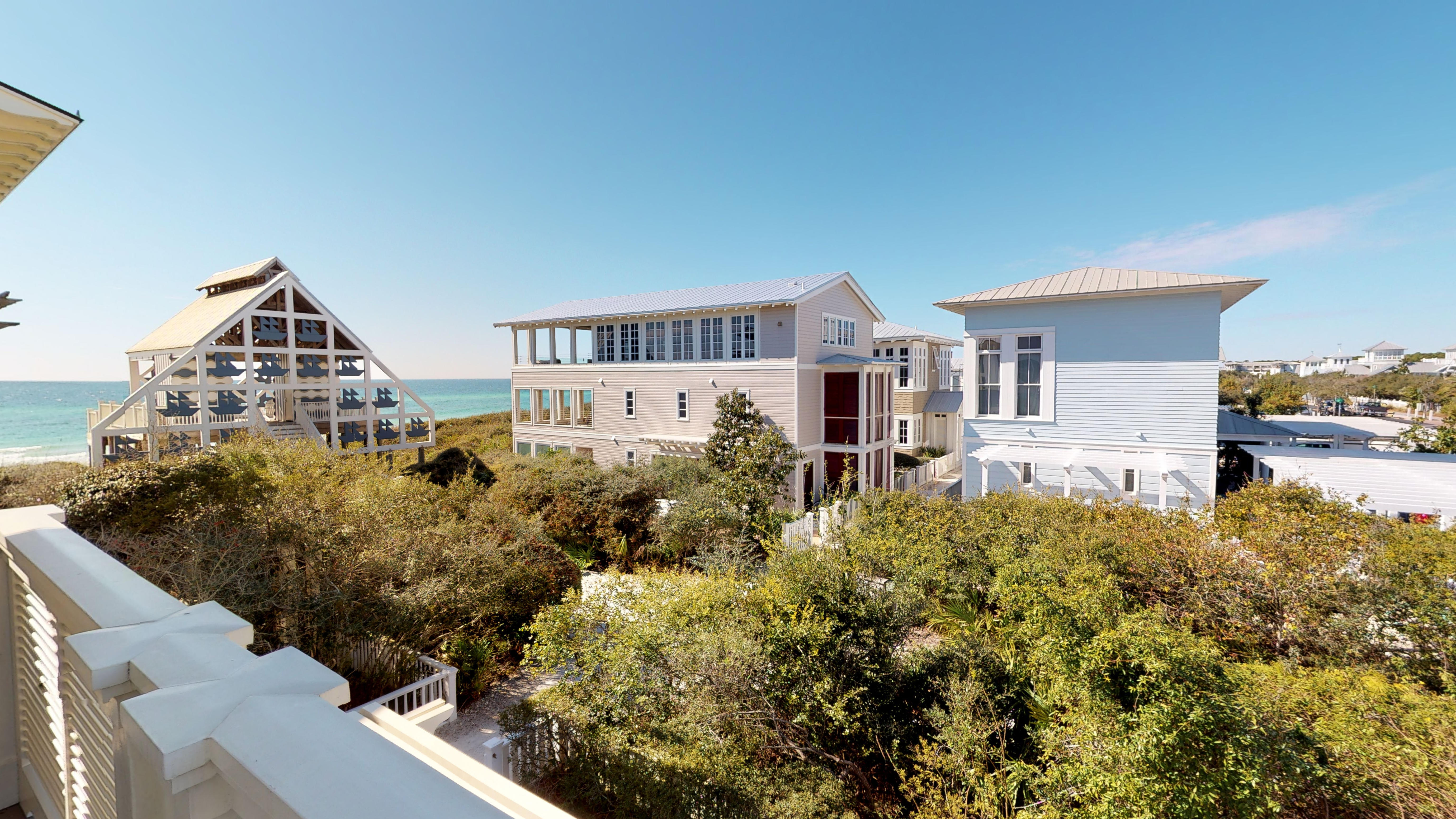 Views of West Ruskin Pavillion and Gulf from the Master balcony