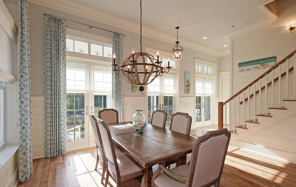 Bright dining area with seating for six