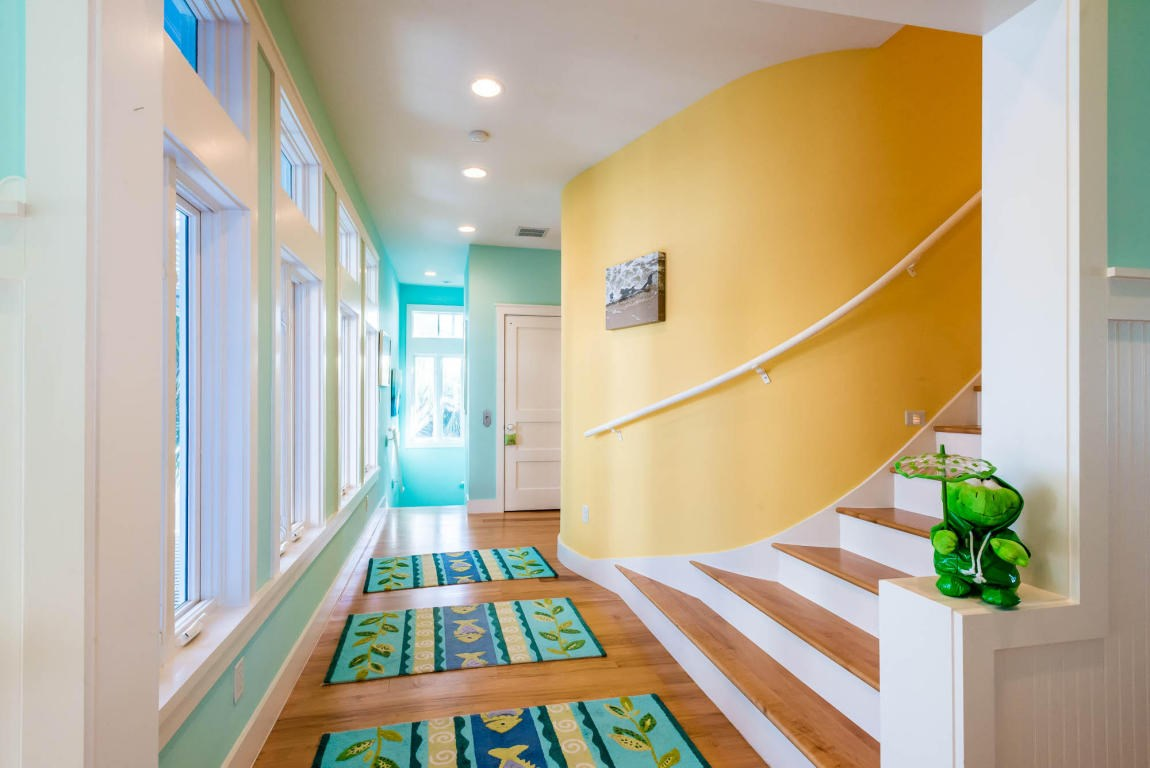 Gorgeous stairway leading to the 3rd floor balcony