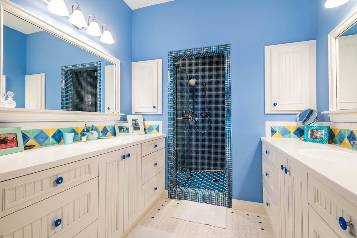 The master bath also has a huge shower with 3 shower heads
