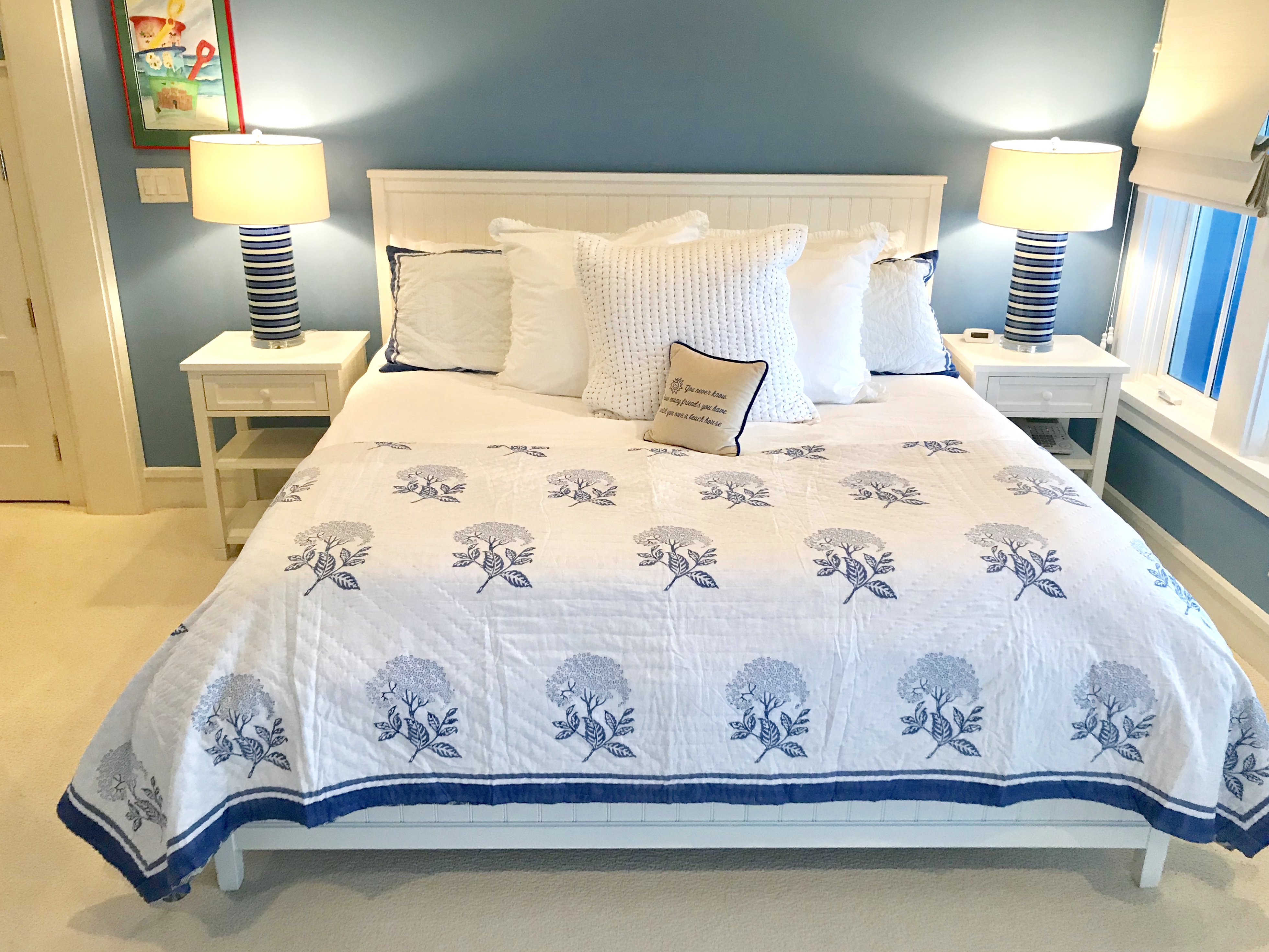 Secondary master bedroom with a King sized bed