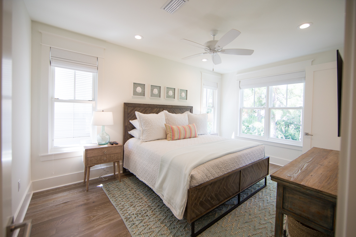 King guest bedroom location on the 3rd floor and features an attached bath