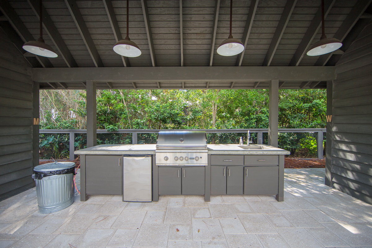 Neighborhood grill located at swimming pool
