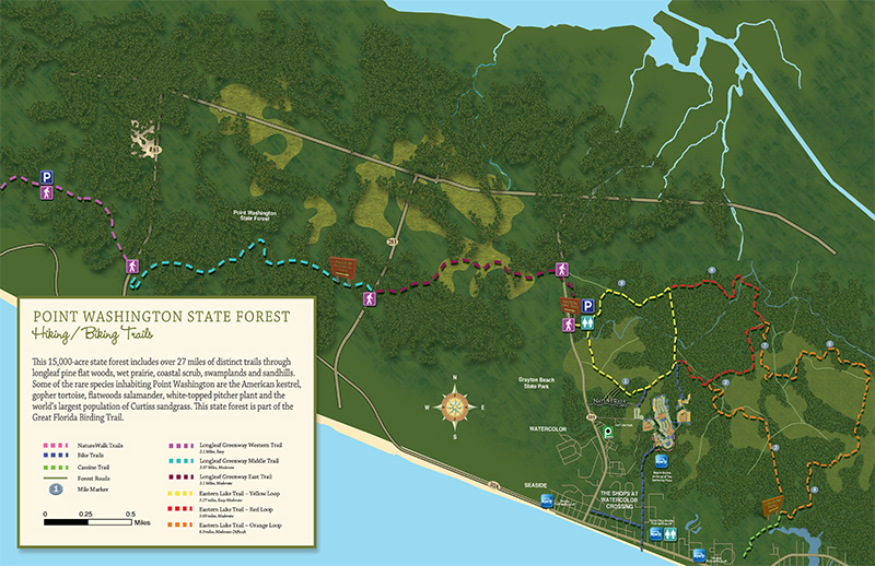 SNEAK PEEK | Trail Map, Trails Accessible When Booking Home at NatureWalk